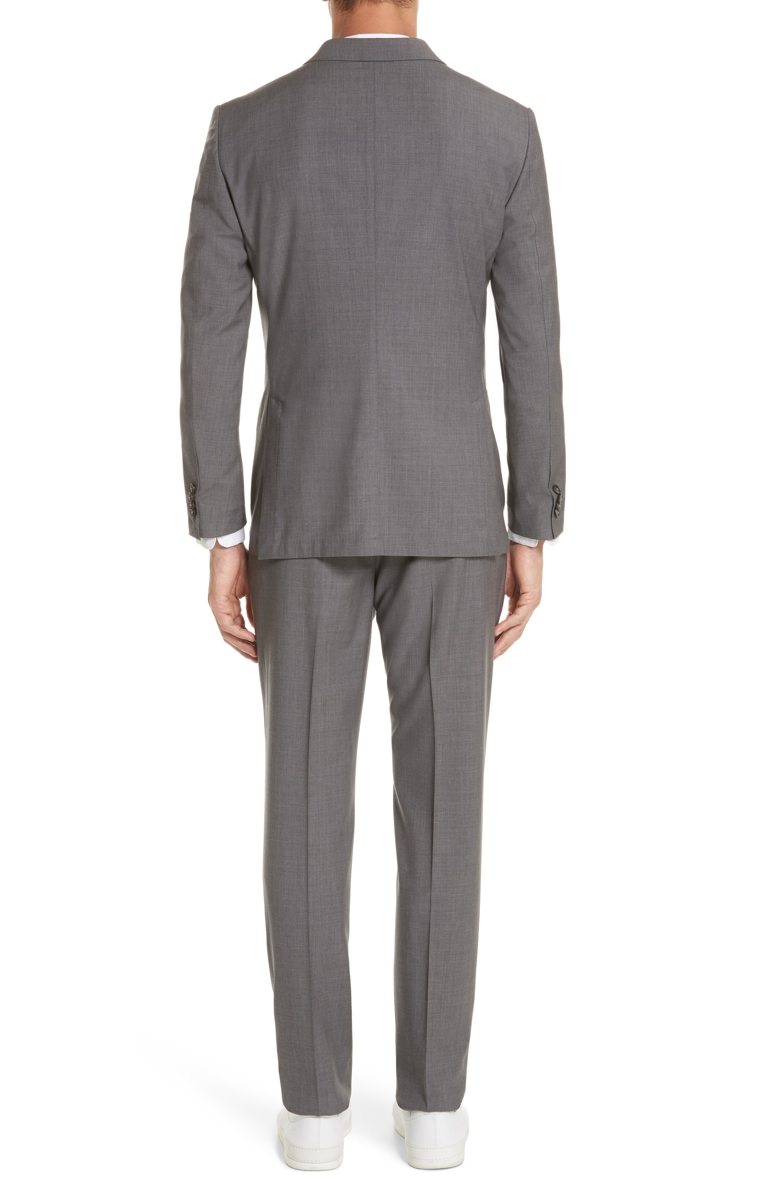 TECHMERINO<sup>™</sup> Wash & Go Trim Fit Solid Wool Suit,                             Alternate thumbnail 2, color,                             Solid Grey