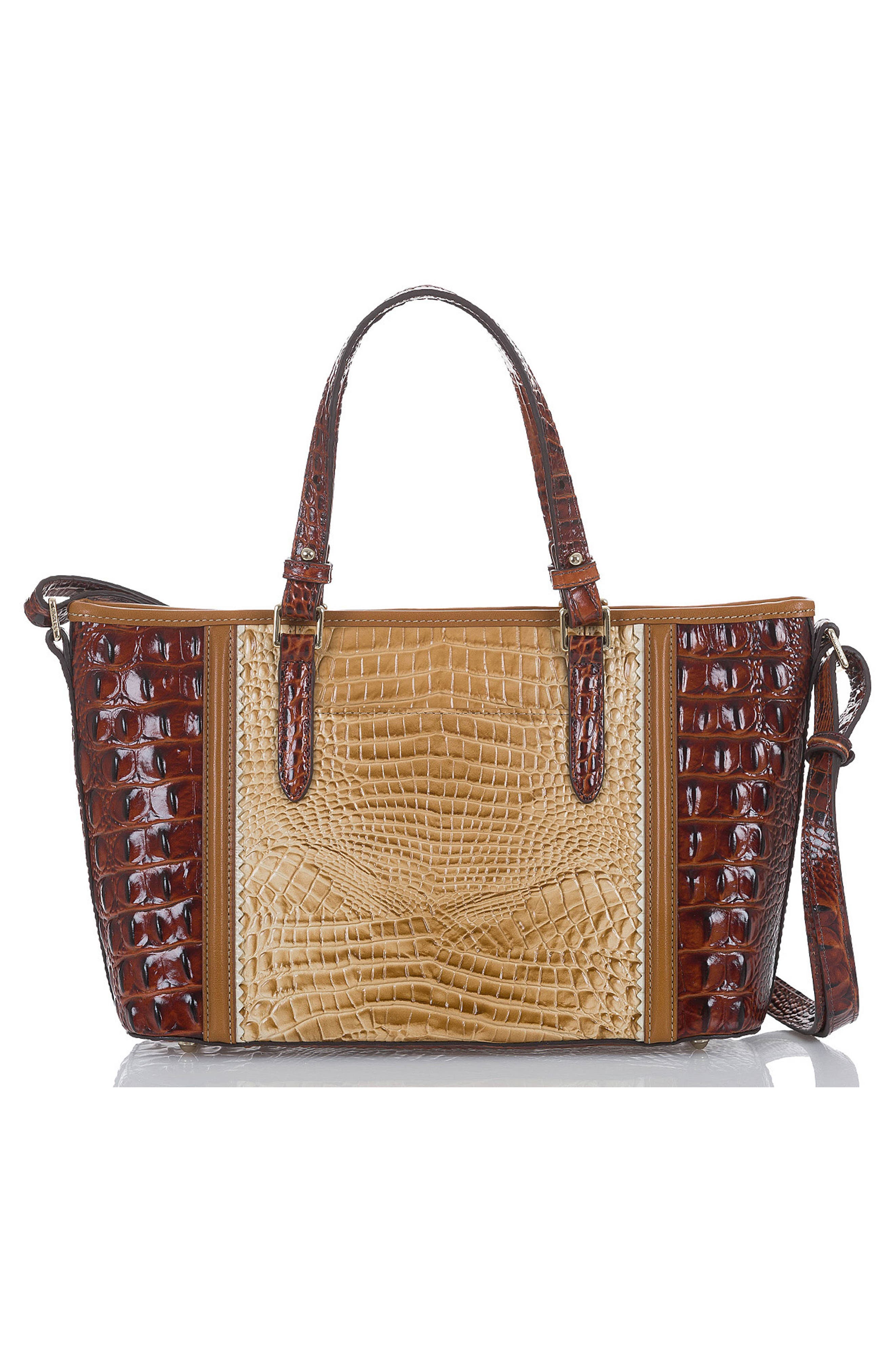 Mini Asher Croc Embossed Leather Tote,                             Alternate thumbnail 2, color,                             Chino