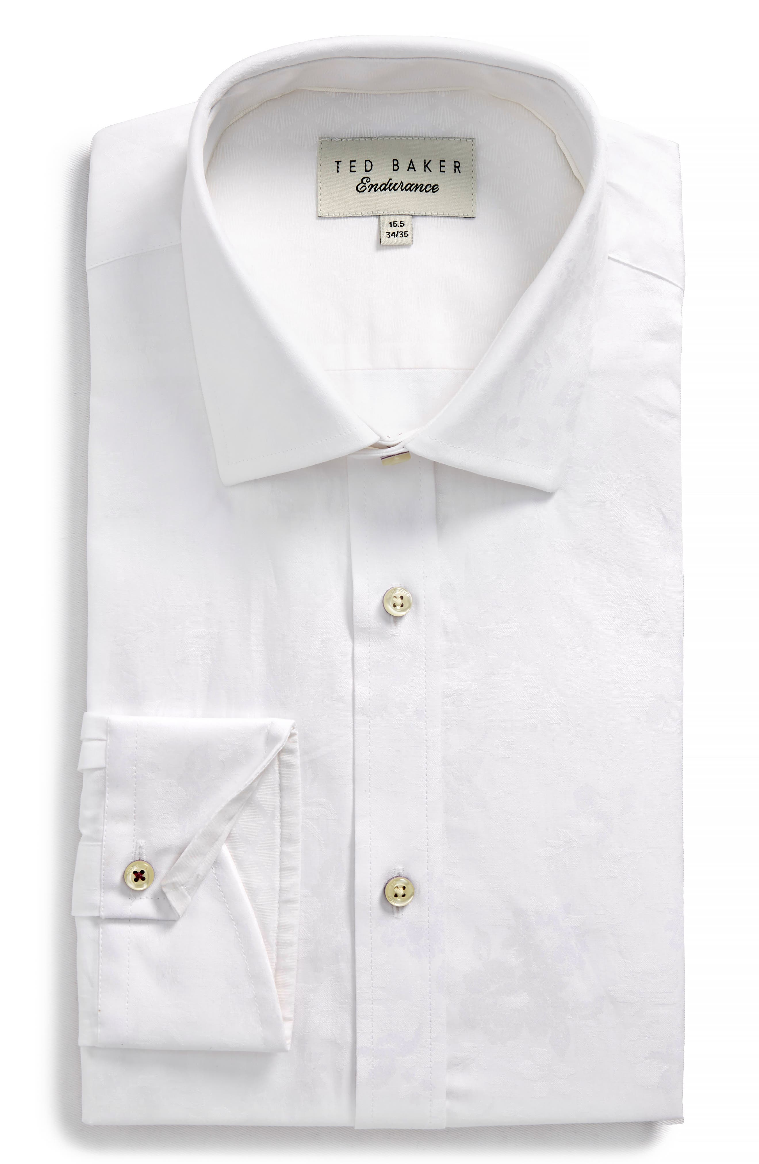 Main Image - Ted Baker London Pampa Trim Fit Floral Dress Shirt