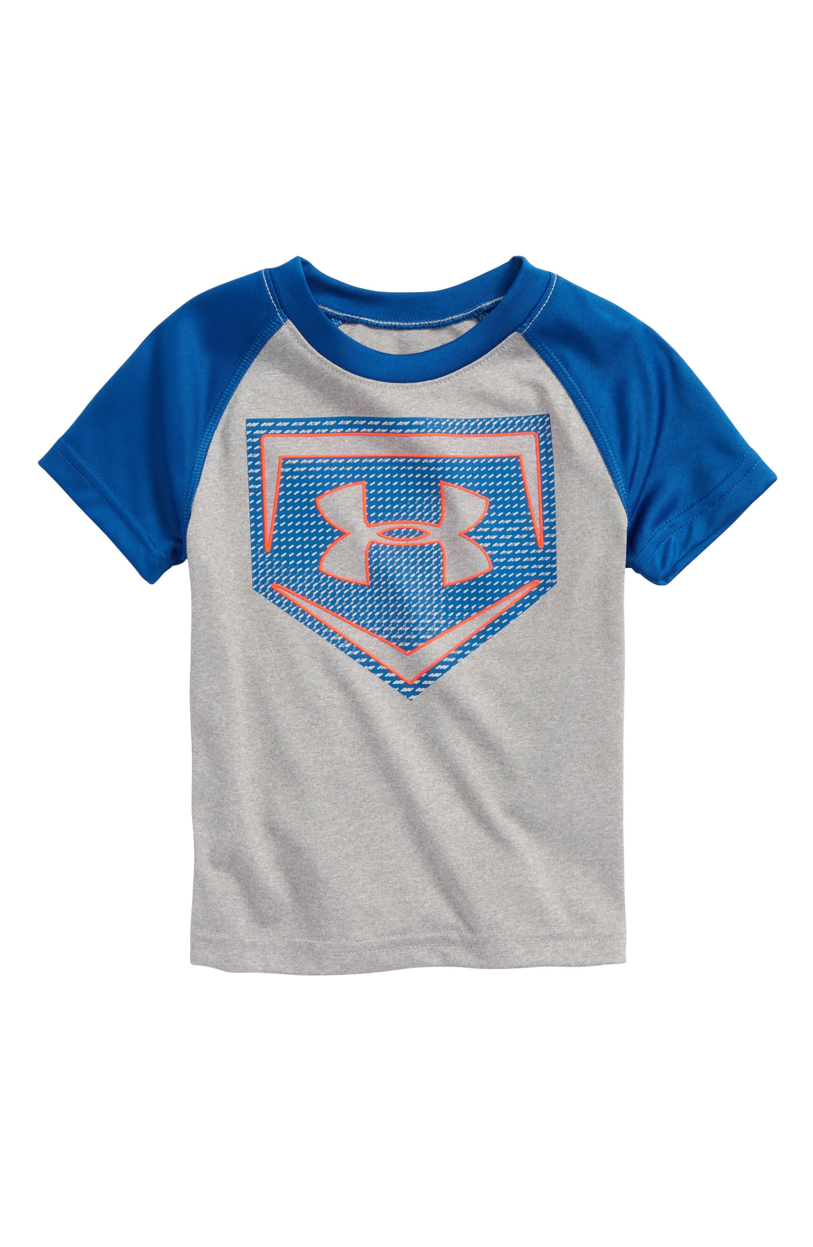 Sync Home Plate Logo HeatGear<sup>®</sup> T-Shirt,                         Main,                         color, True Grey Heather