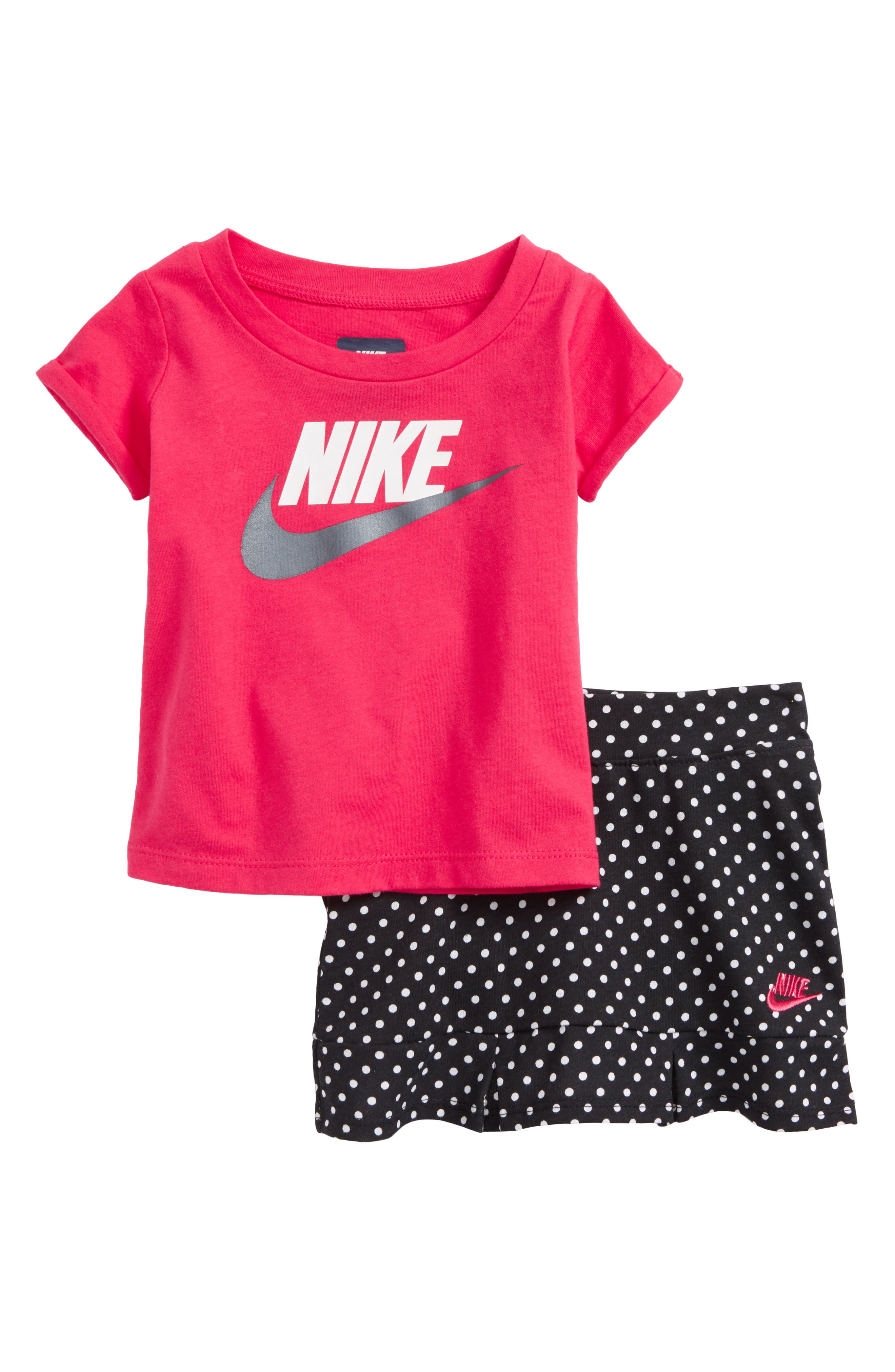 Futrra Graphic Tee & Scooter Skirt Set,                             Main thumbnail 1, color,                             Black