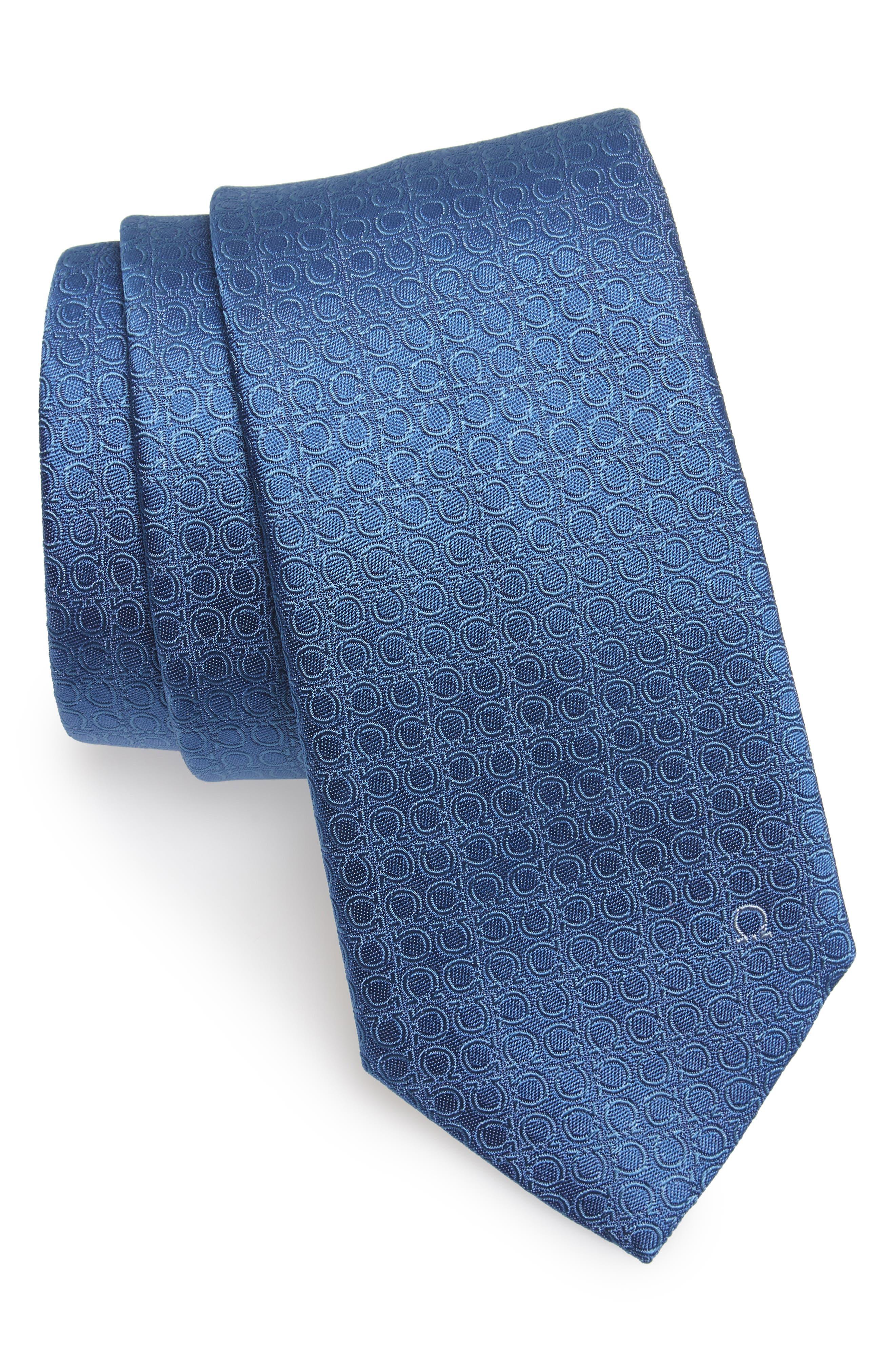 Salvatore Ferragamo Erve Gancini Silk Tie