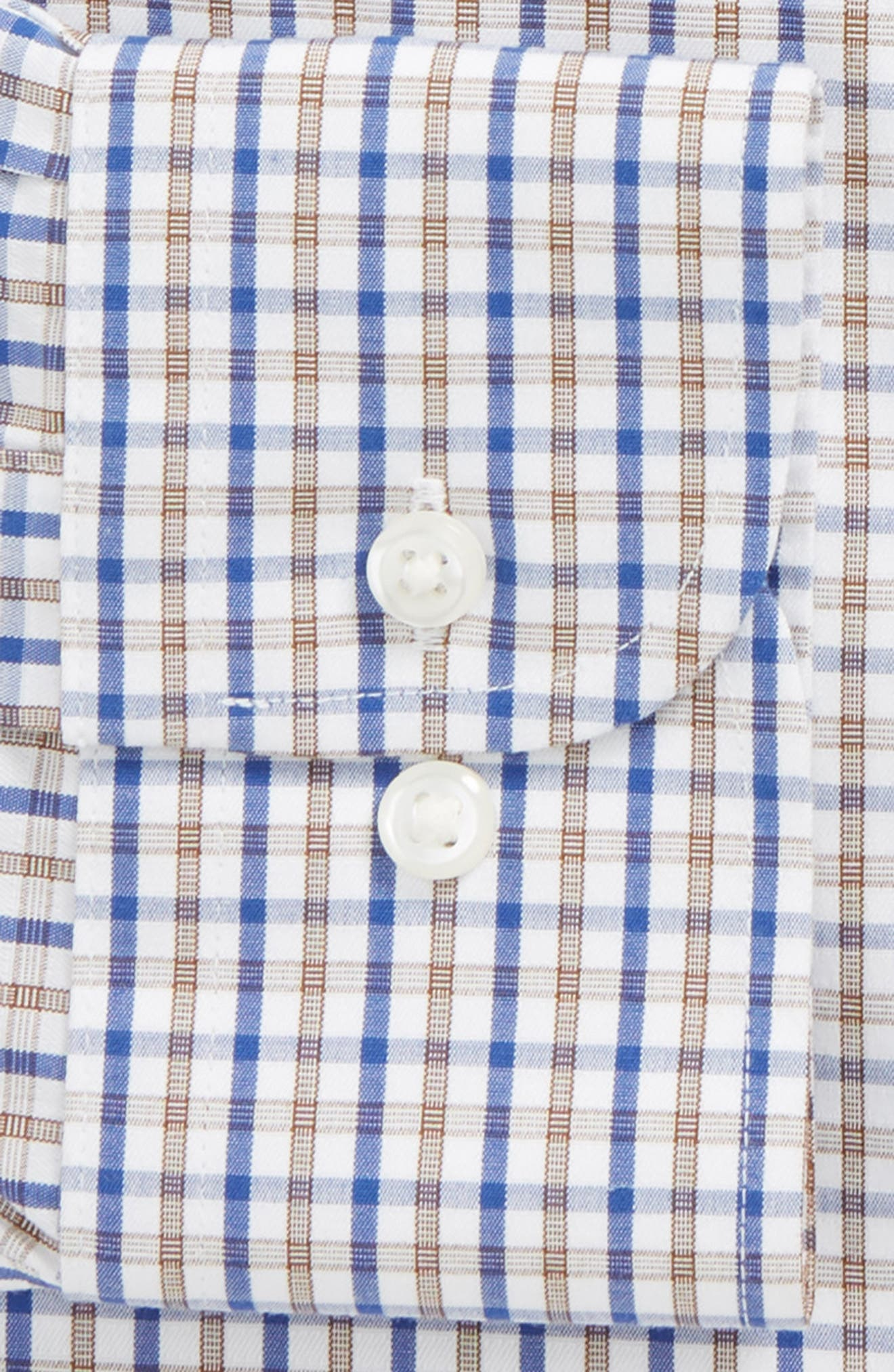 Smartcare<sup>™</sup> Traditional Fit Check Dress Shirt,                             Alternate thumbnail 2, color,                             Brown Dachshund