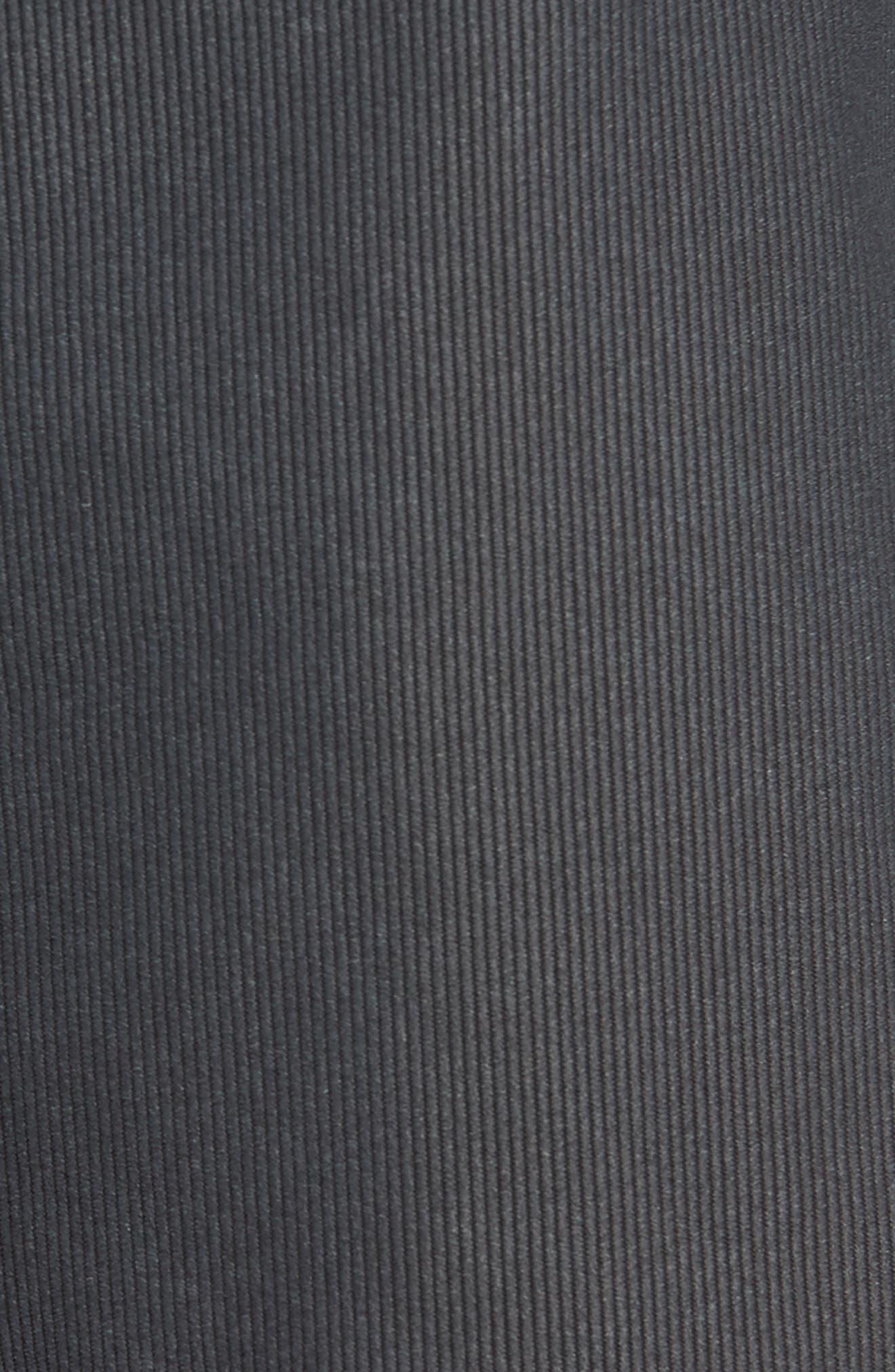 Outsider X Surf Corduroy Shorts,                             Alternate thumbnail 4, color,                             Black