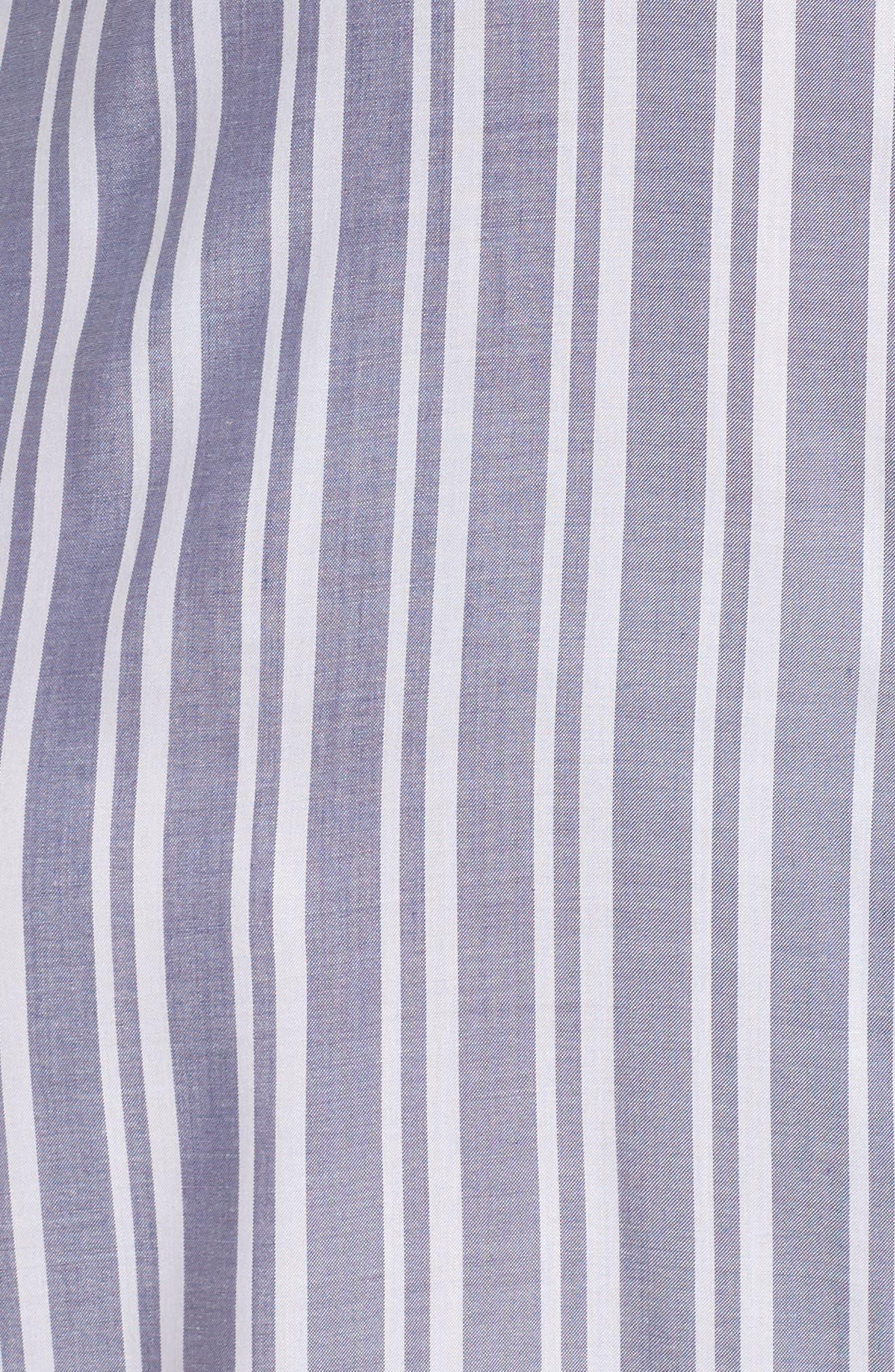 Woven Caftan,                             Alternate thumbnail 5, color,                             Blue Indigo Preppy Stripe