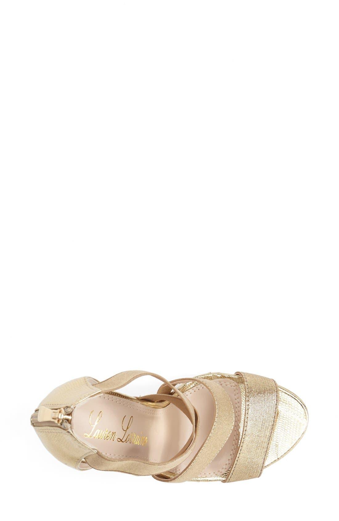 Alternate Image 3  - Lauren Lorraine 'Lipsy' Platform Sandal (Women)