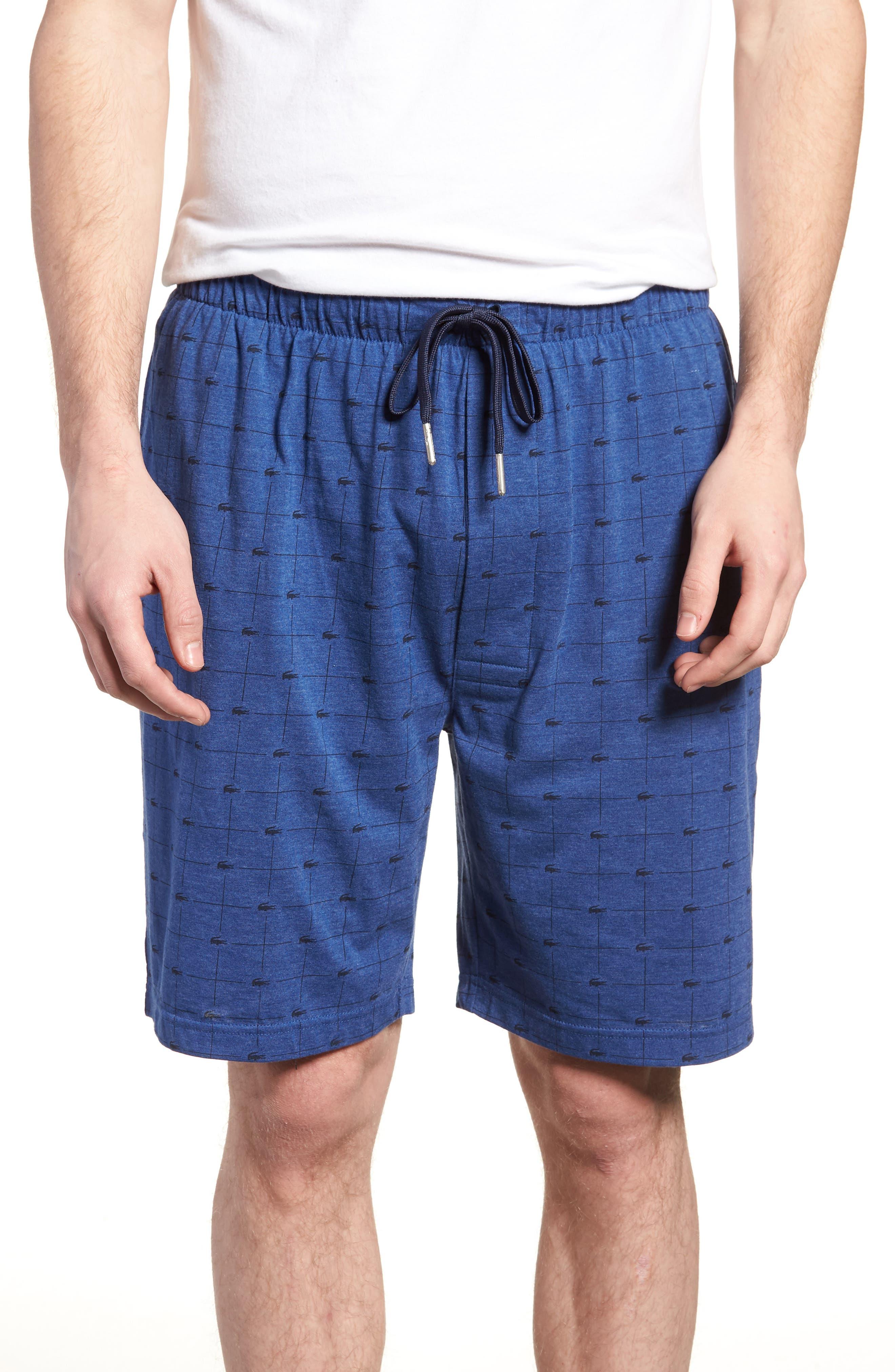 Knit Cotton Lounge Shorts,                             Main thumbnail 1, color,                             Classic Blue