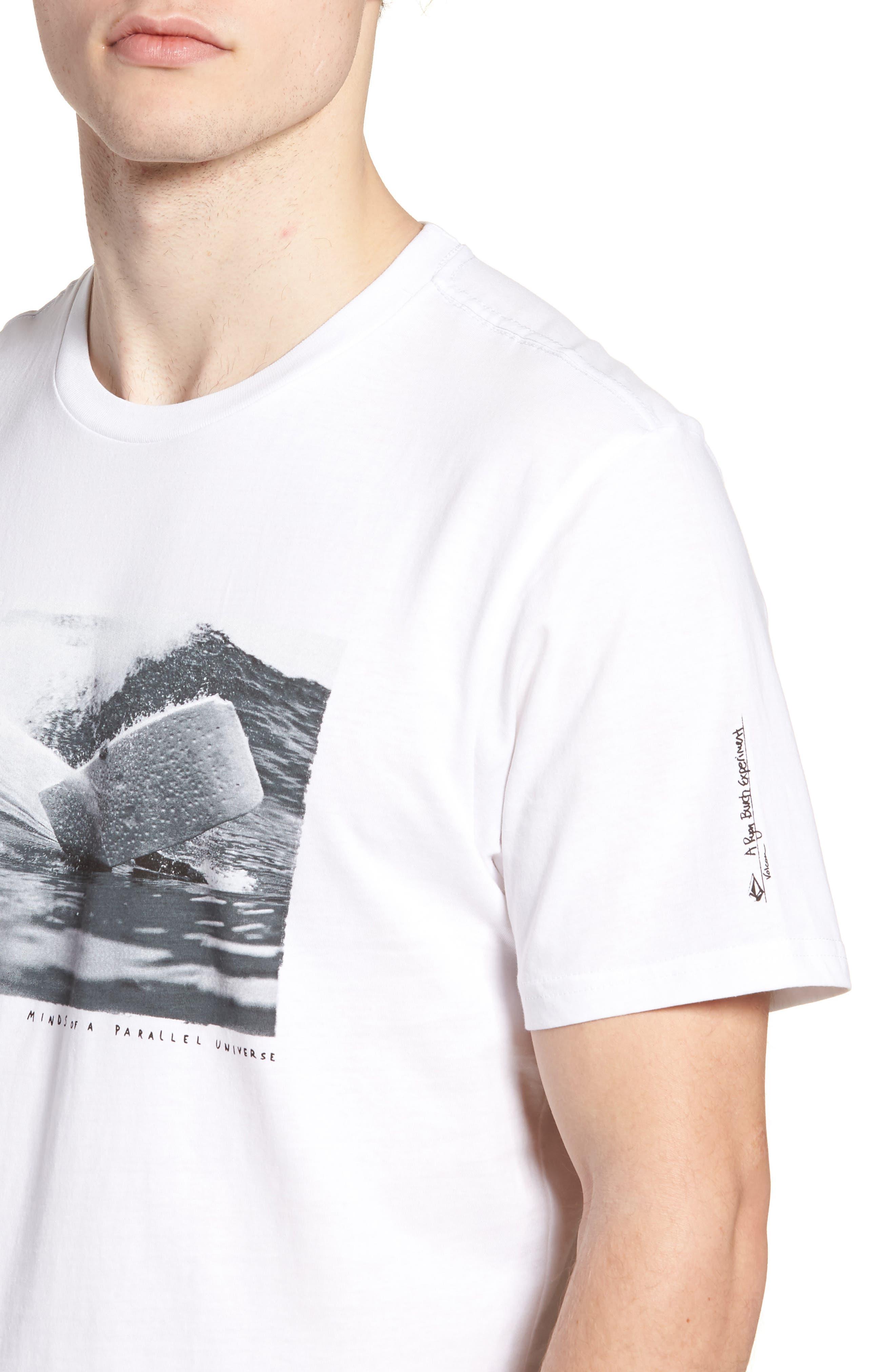 Burch Foam Graphic T-Shirt,                             Alternate thumbnail 4, color,                             White