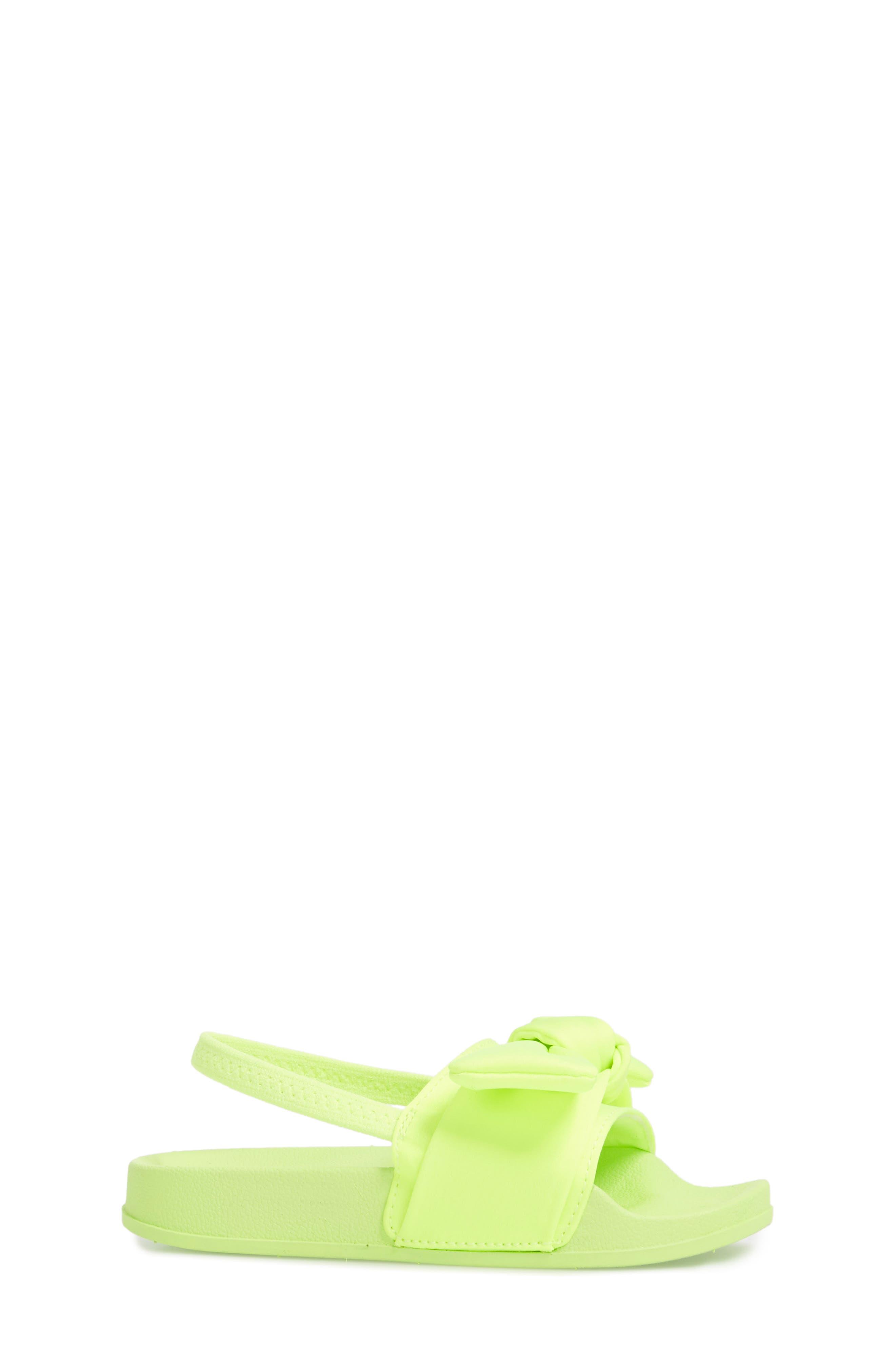 Tsilky Knotted Slide Sandal,                             Alternate thumbnail 3, color,                             Citron