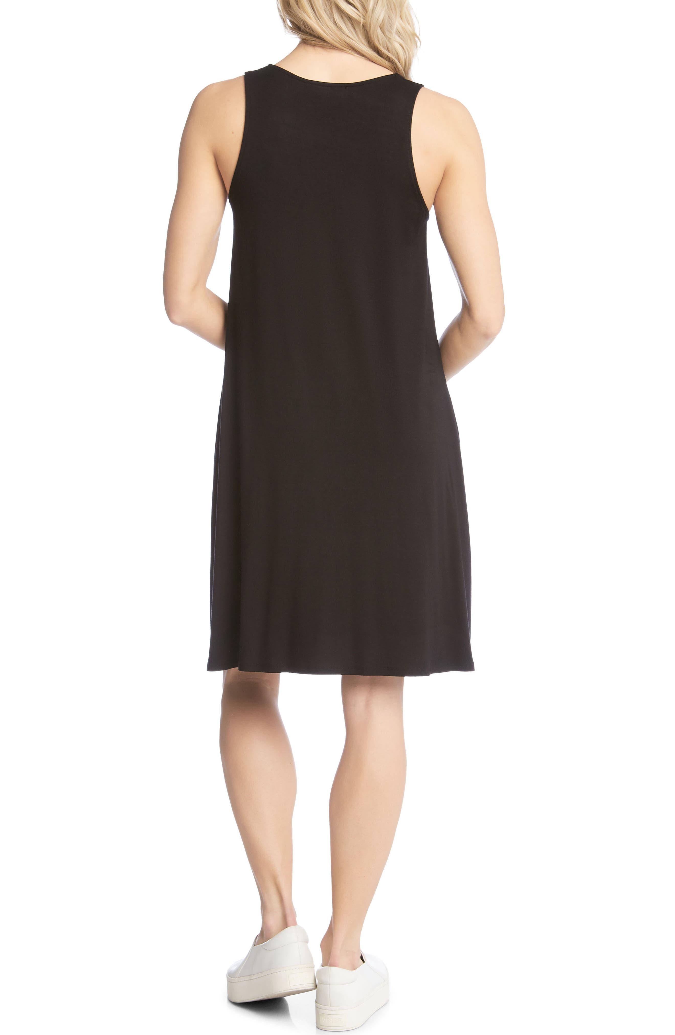 Tessa Jersey Tank Dress,                             Alternate thumbnail 3, color,                             Black