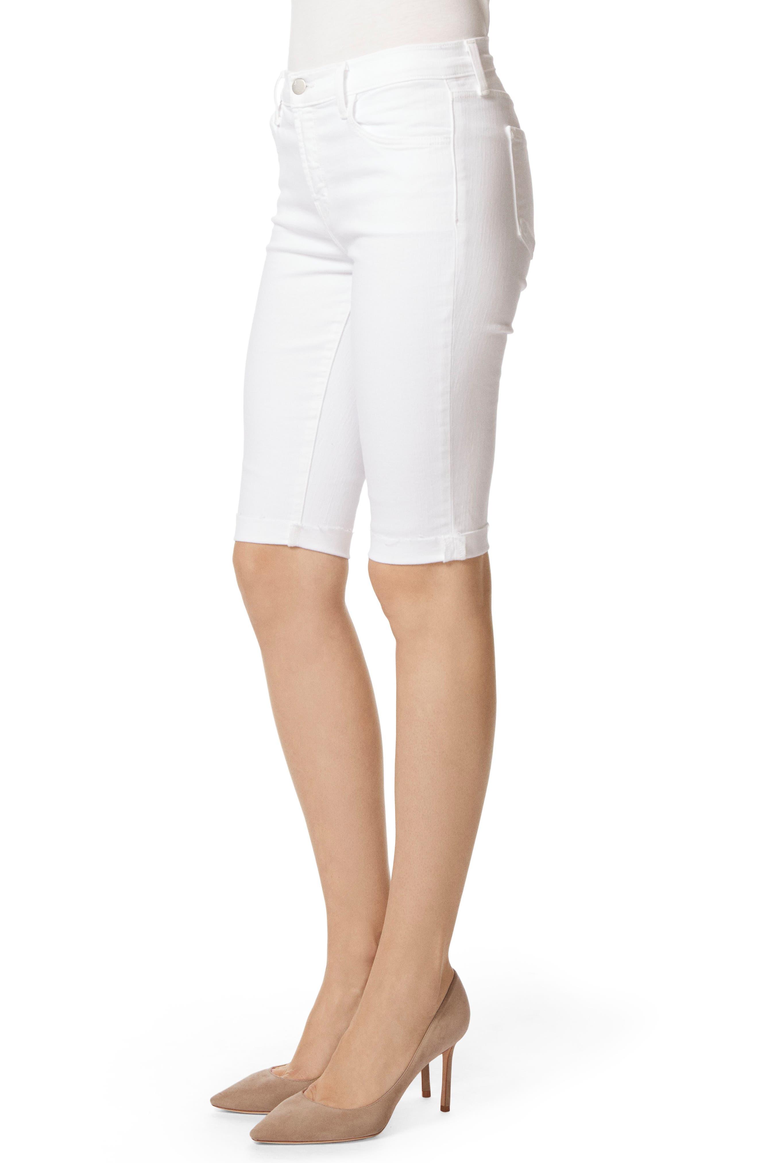 811 Skinny Bermuda Shorts,                             Alternate thumbnail 3, color,                             Blanc