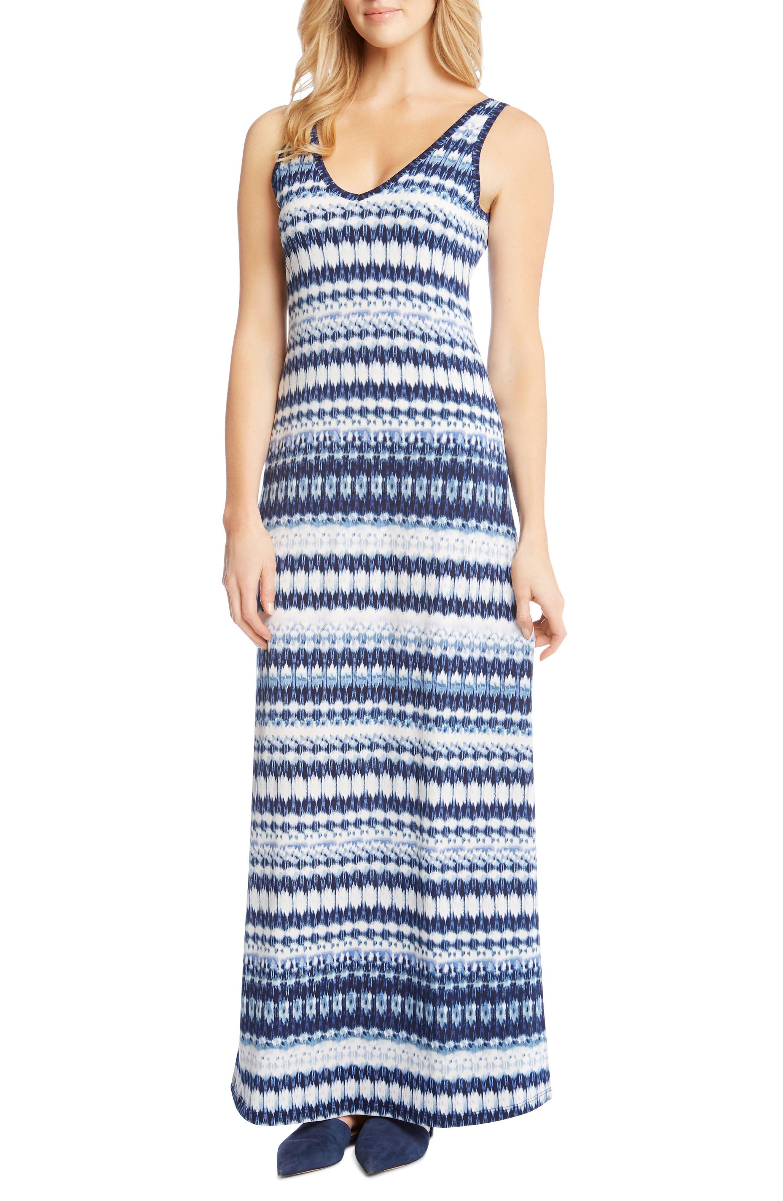 Side Slit Maxi Dress,                             Main thumbnail 1, color,                             Print