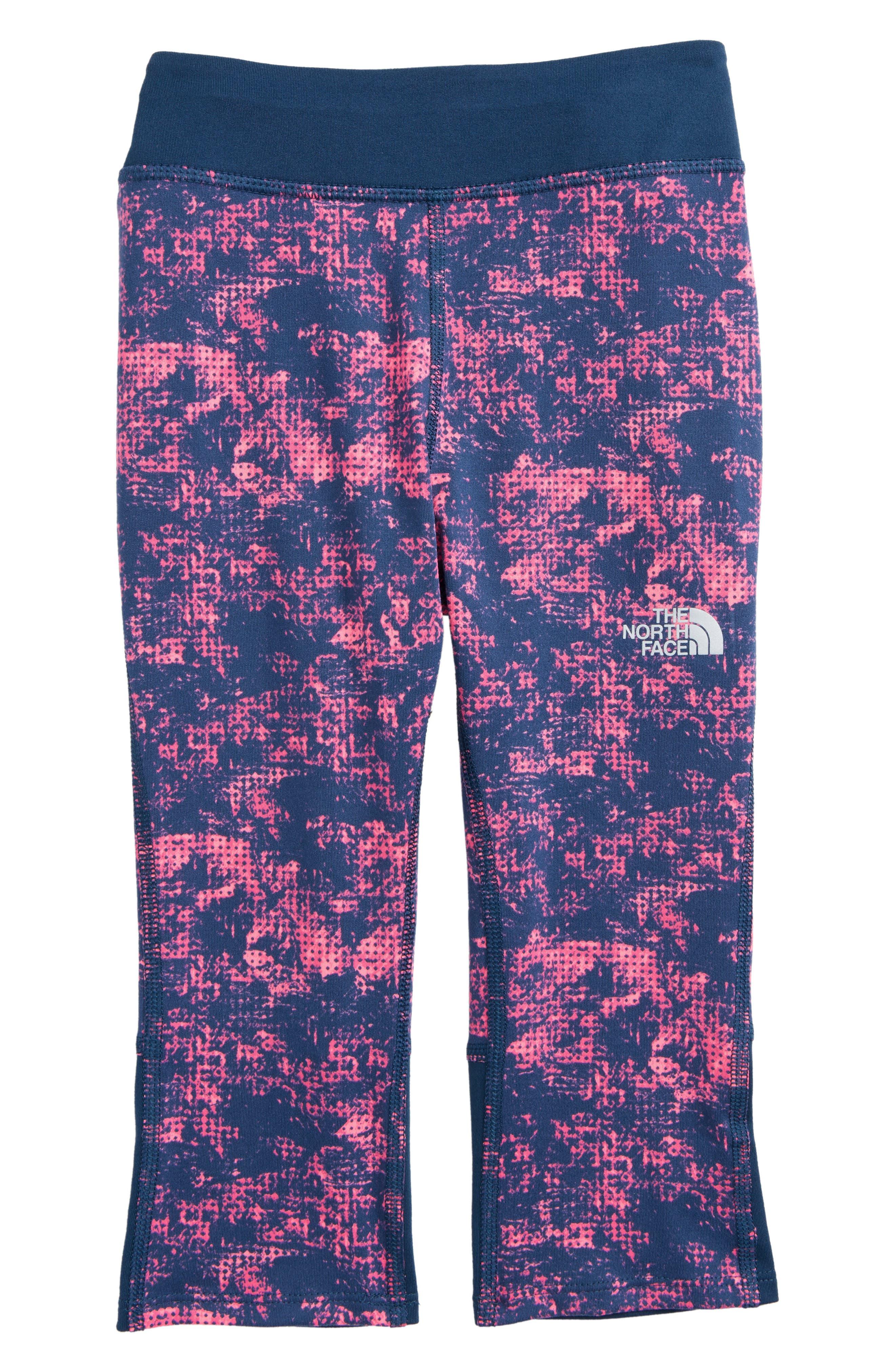 Pulse Capri Leggings,                             Main thumbnail 1, color,                             Gem Pink Halftone Print
