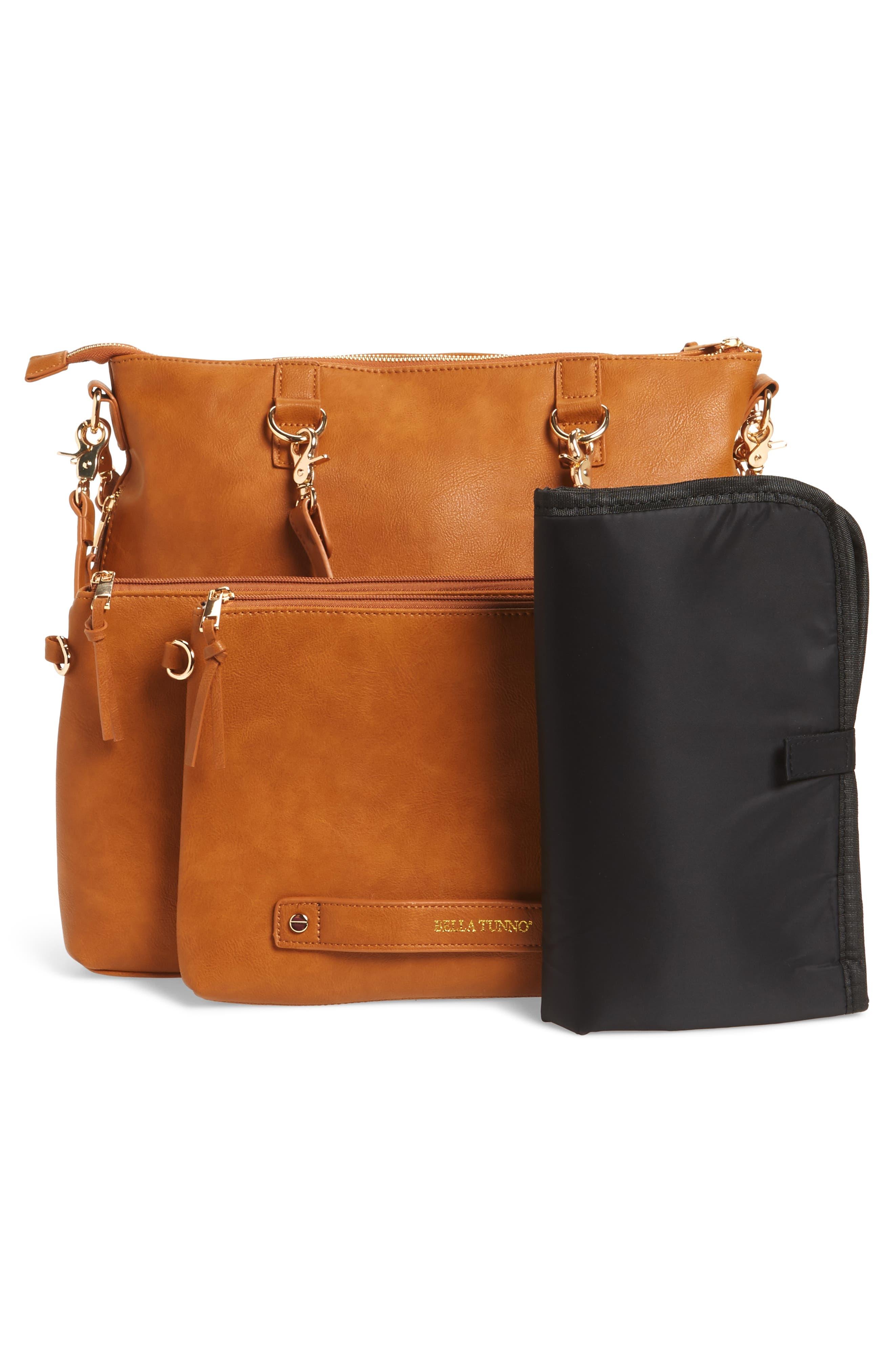 Boss Bag Convertible Diaper Backpack,                             Alternate thumbnail 3, color,                             Cognac