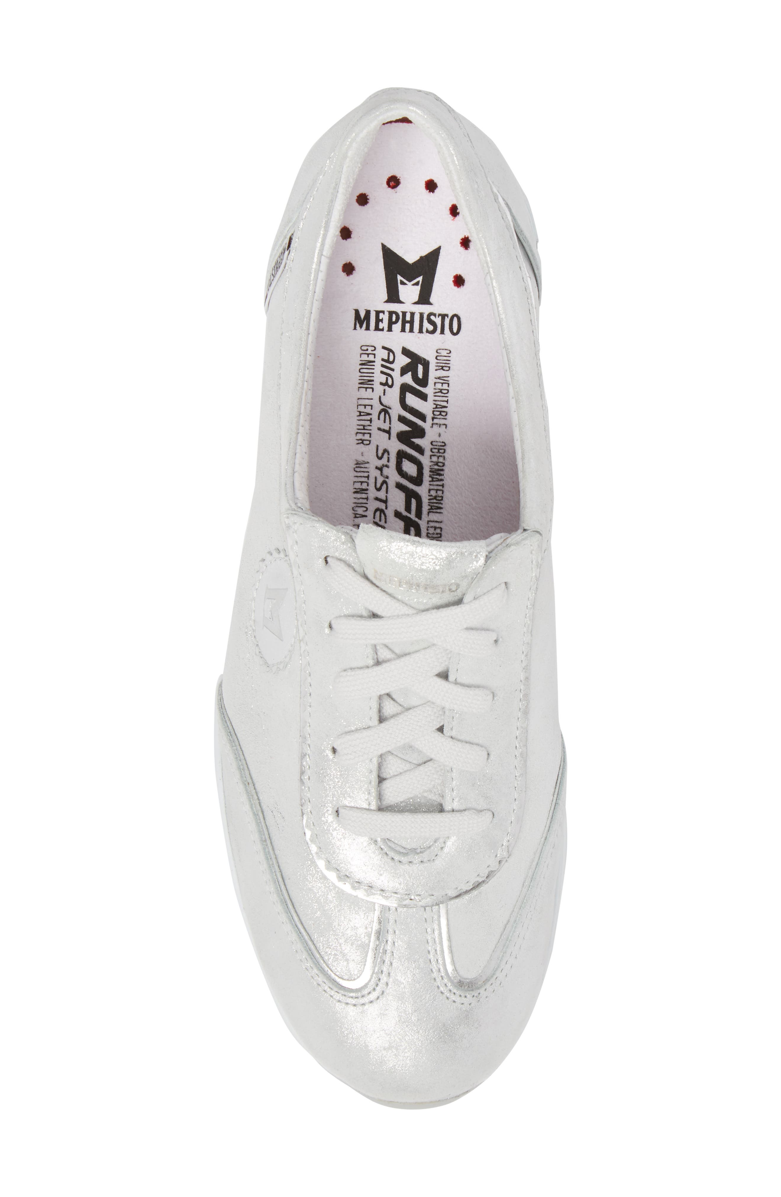 'Yael' Soft-Air Sneaker,                             Alternate thumbnail 5, color,                             Silver Leather