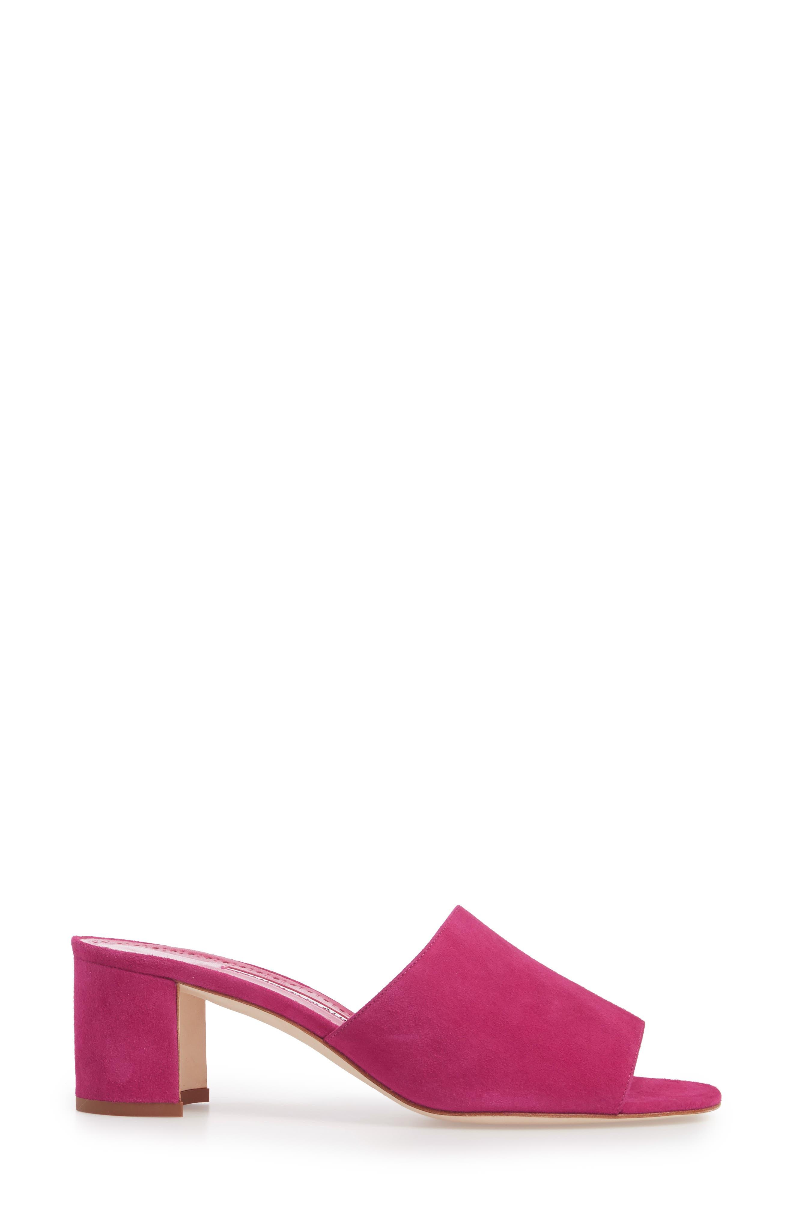 Rapallato Slide Sandal,                             Alternate thumbnail 3, color,                             Fuchsia Suede