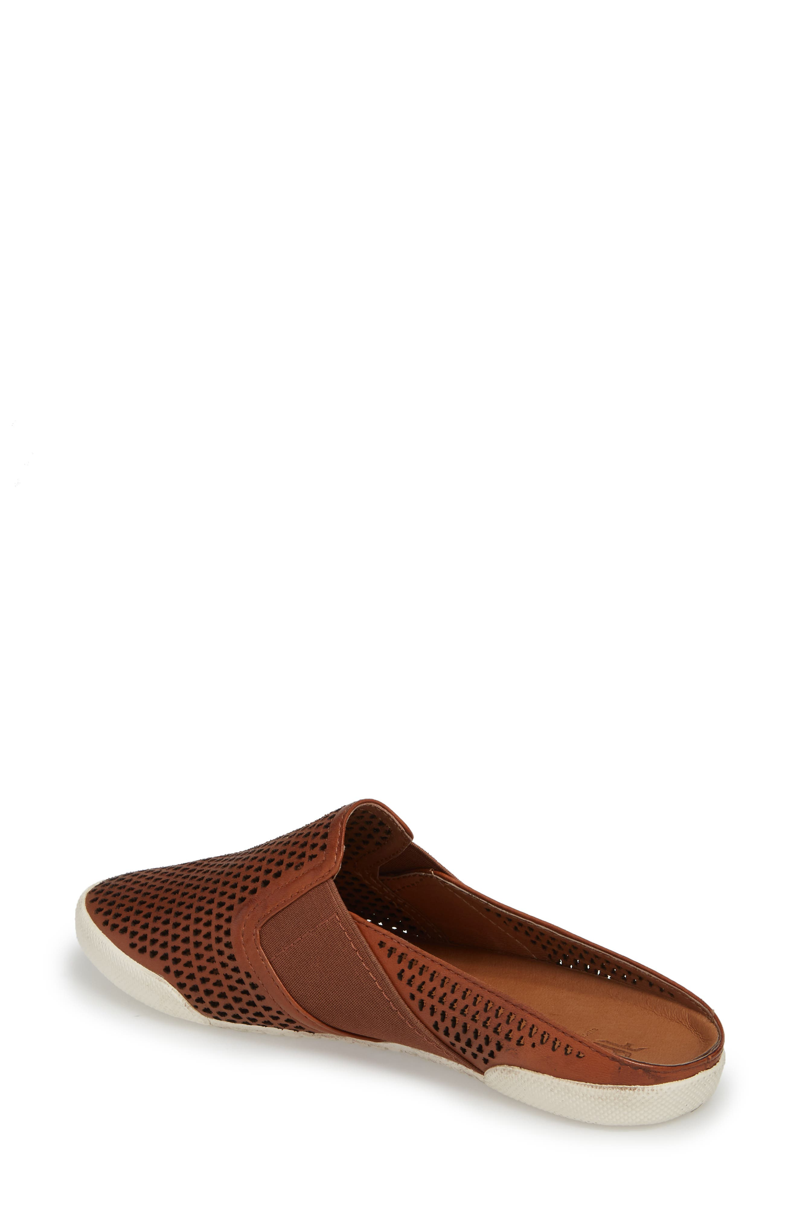 Melanie Perforated Mule,                             Alternate thumbnail 2, color,                             Cognac Leather