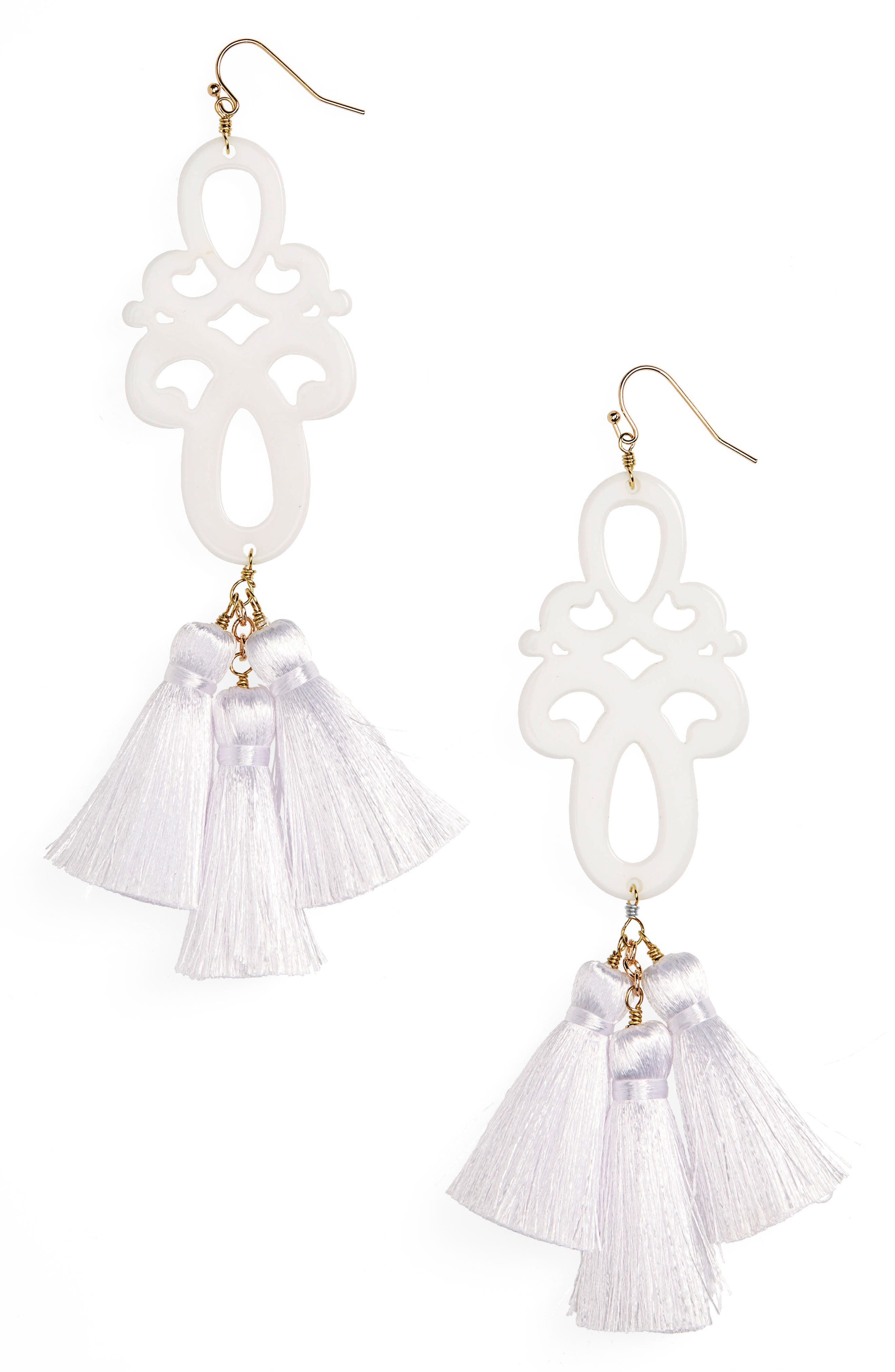Panacea Scroll & Tassel Earrings