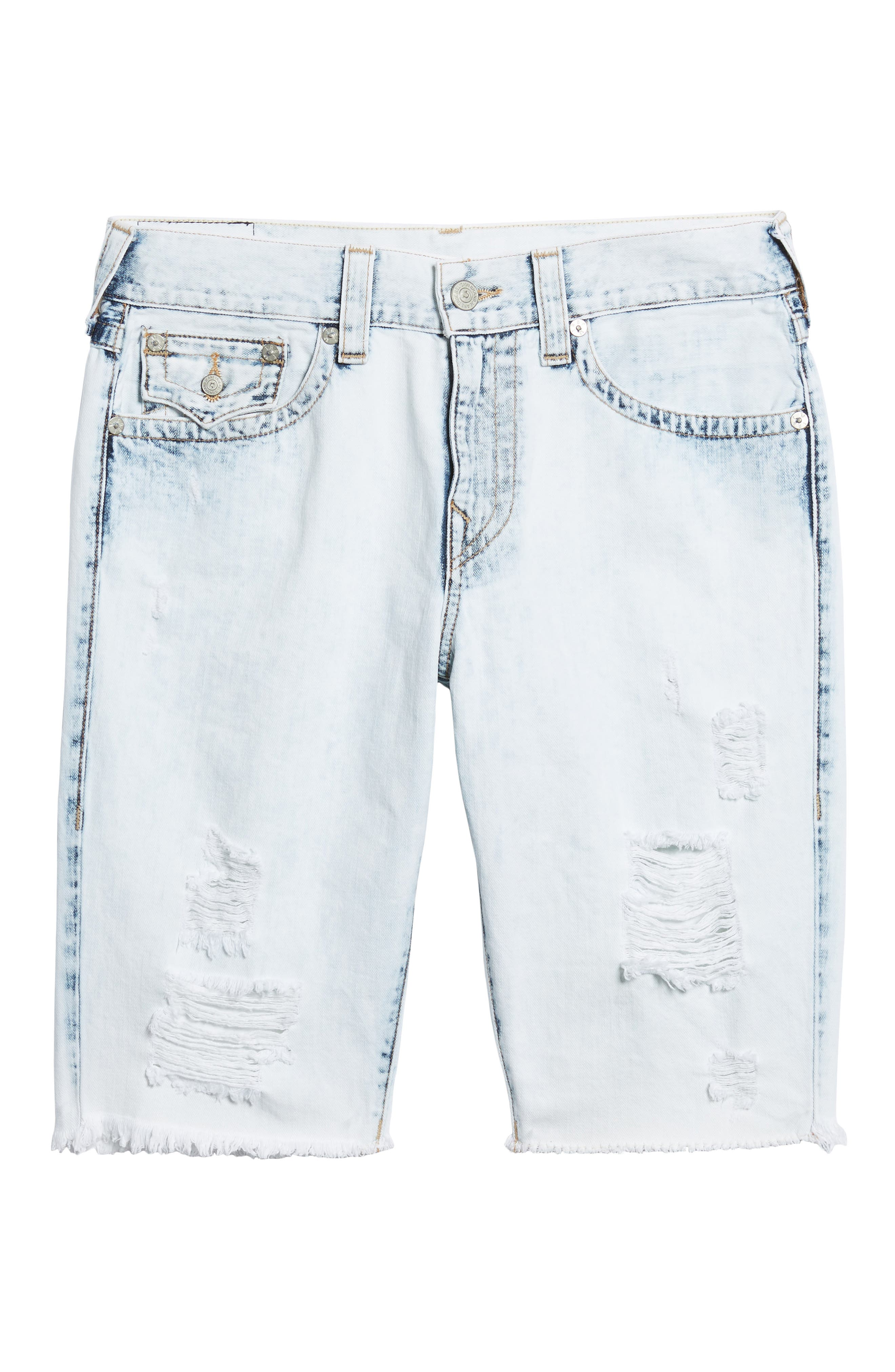 Alternate Image 6  - True Religion Brand Jeans Geno Denim Shorts (Worn Cloudfall)
