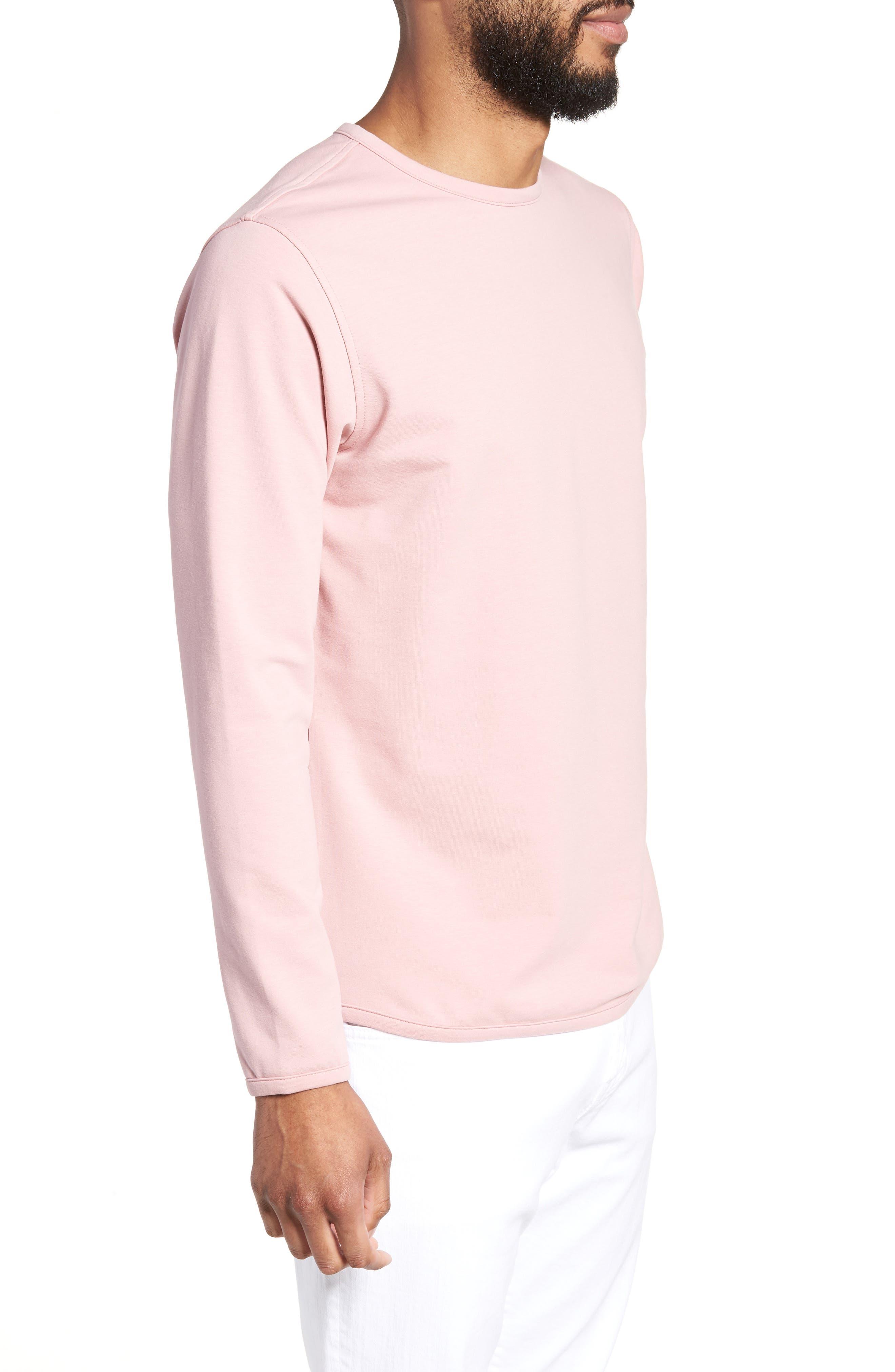 Trim Fit Long Sleeve T-Shirt,                             Alternate thumbnail 3, color,                             Pink