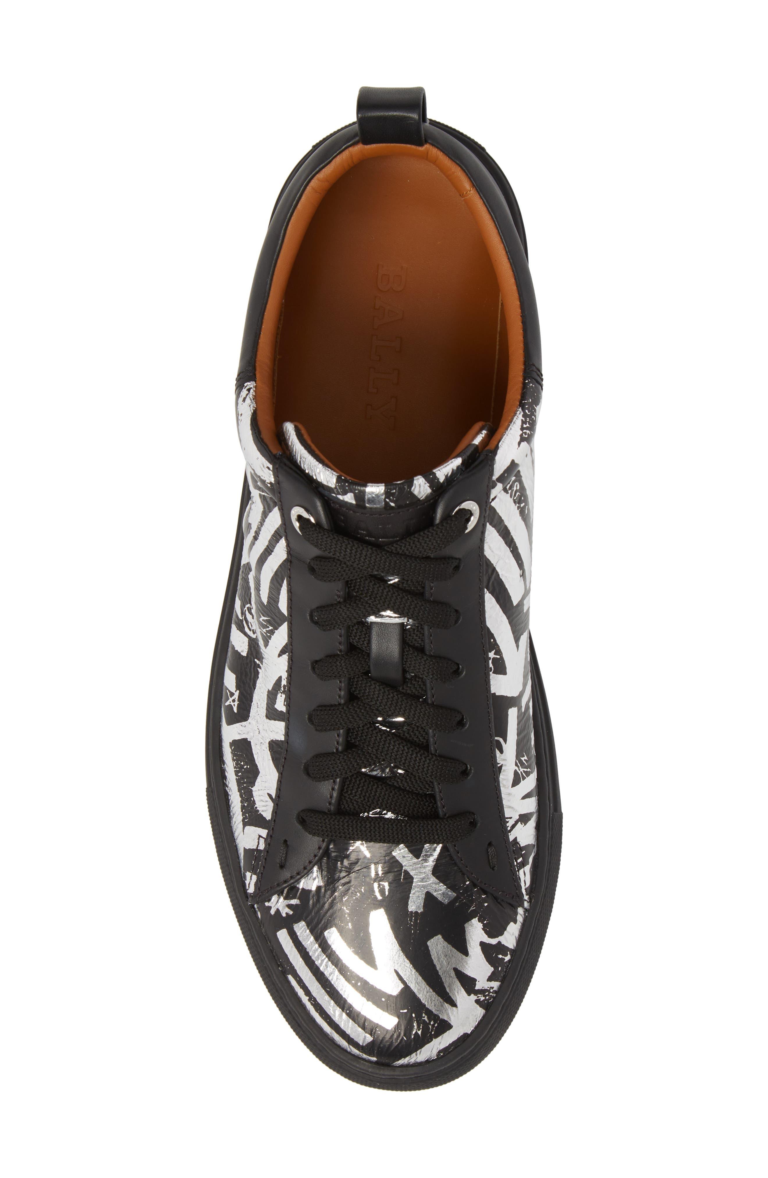 Herbi Low Top Sneaker,                             Alternate thumbnail 5, color,                             Silver