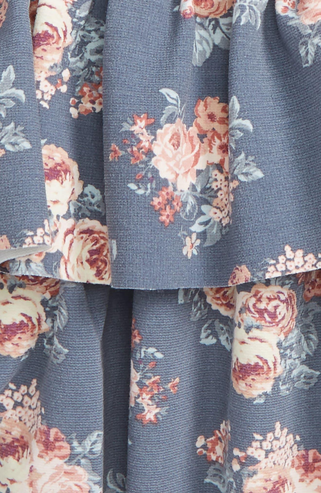 Jersey Ruffle Skirt,                             Alternate thumbnail 2, color,                             Grey