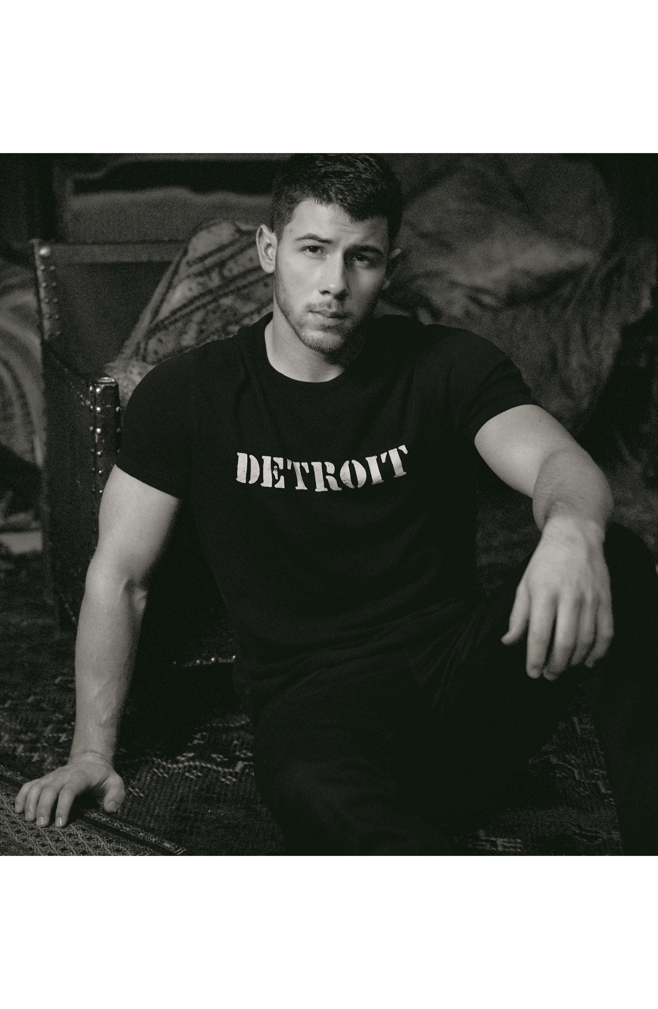 John Varvatos x Nick Jonas Rock City Graphic T-Shirt,                             Alternate thumbnail 2, color,                             Black