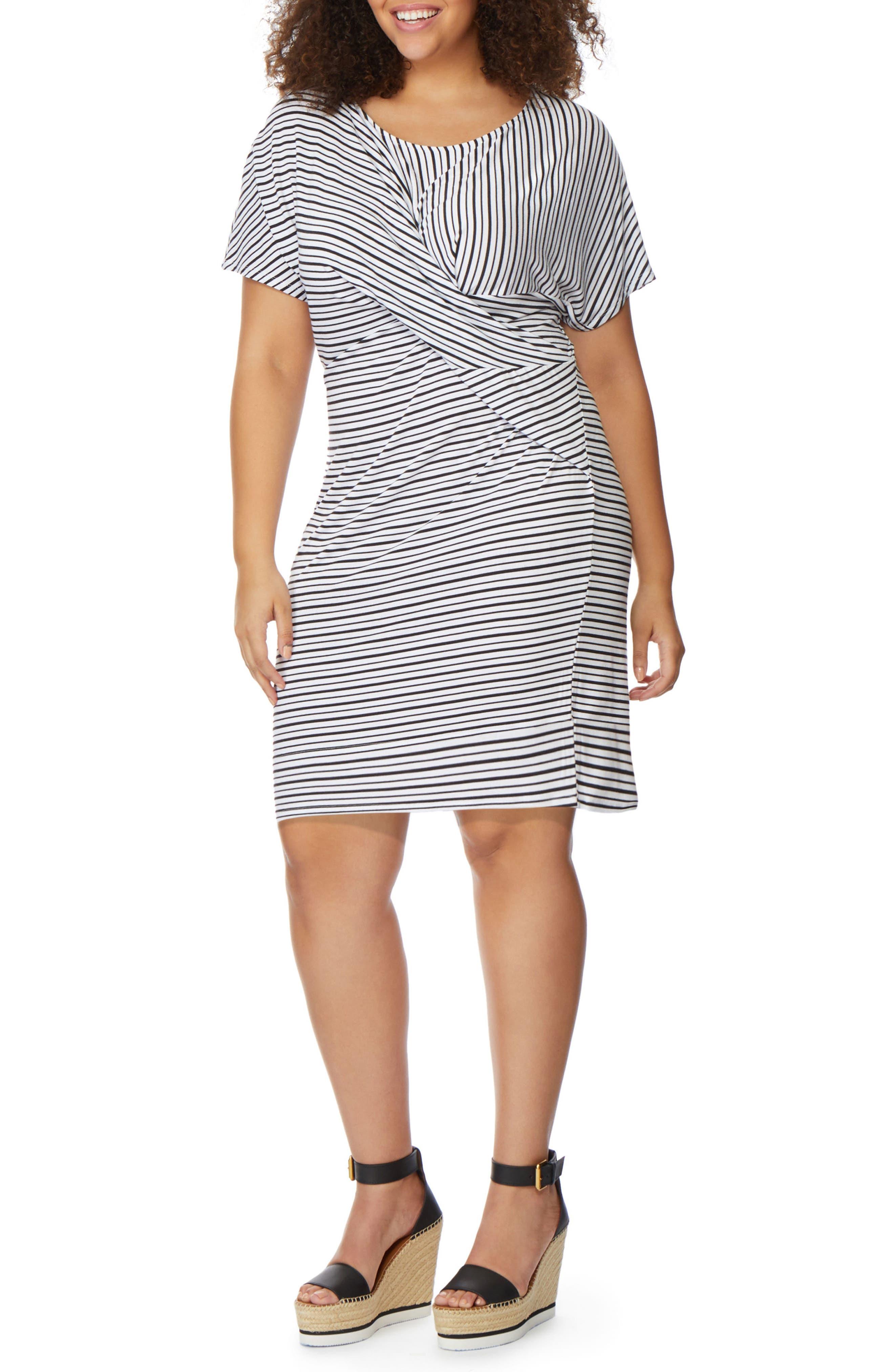 Rebel Wilson x Angels Twist Stripe Dress (Plus Size)