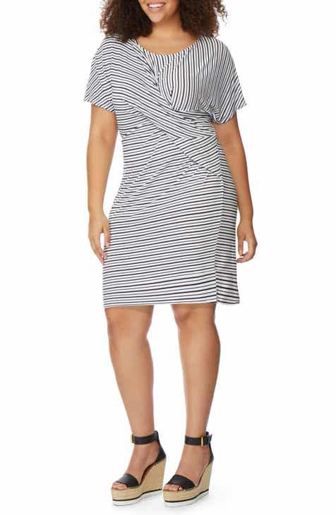 a04c040ff95d16 Rebel Wilson x Angels Twist Stripe Dress (Plus Size)