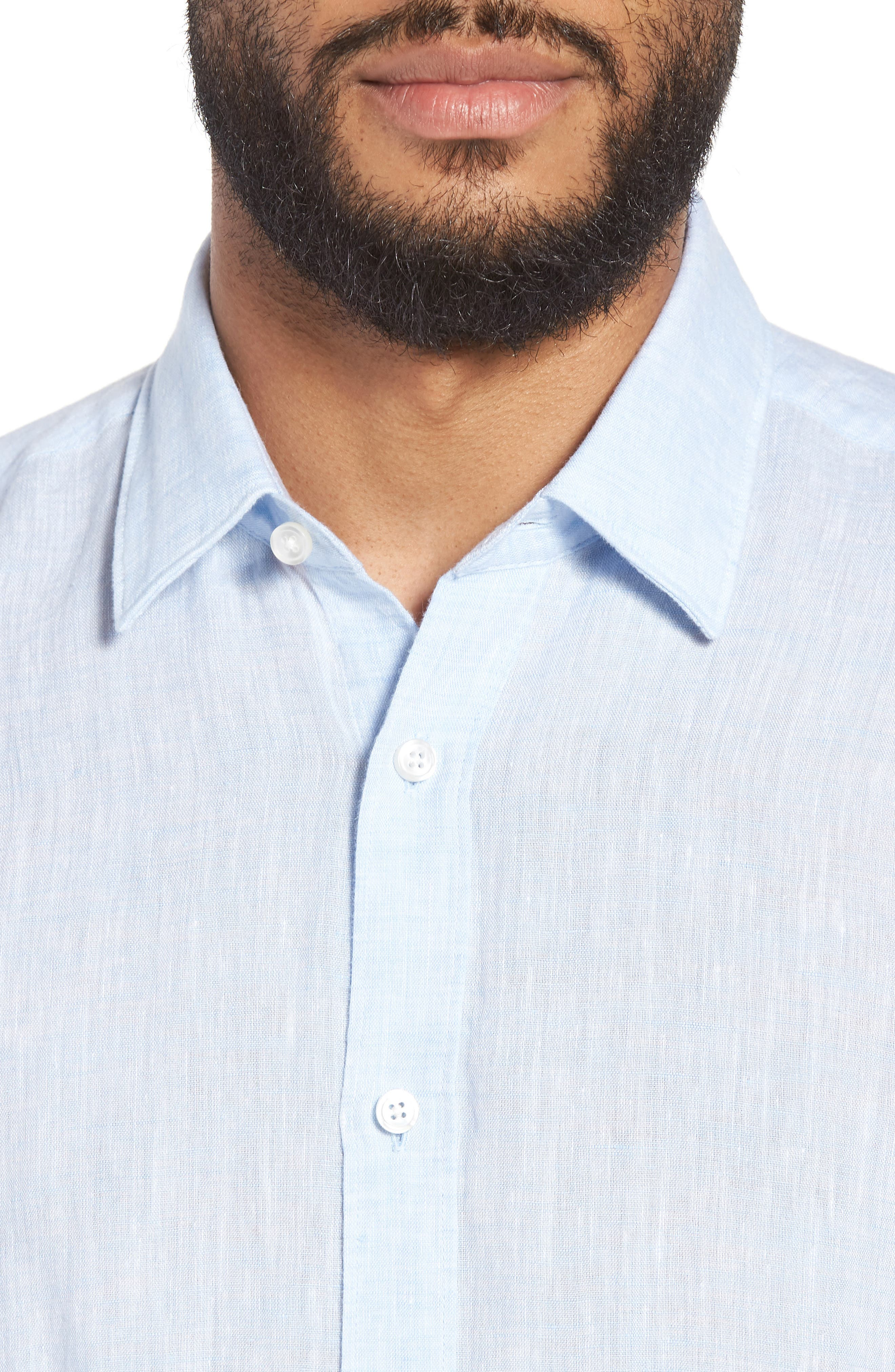 Luka Slim Fit Sport Shirt,                             Alternate thumbnail 2, color,                             Blue