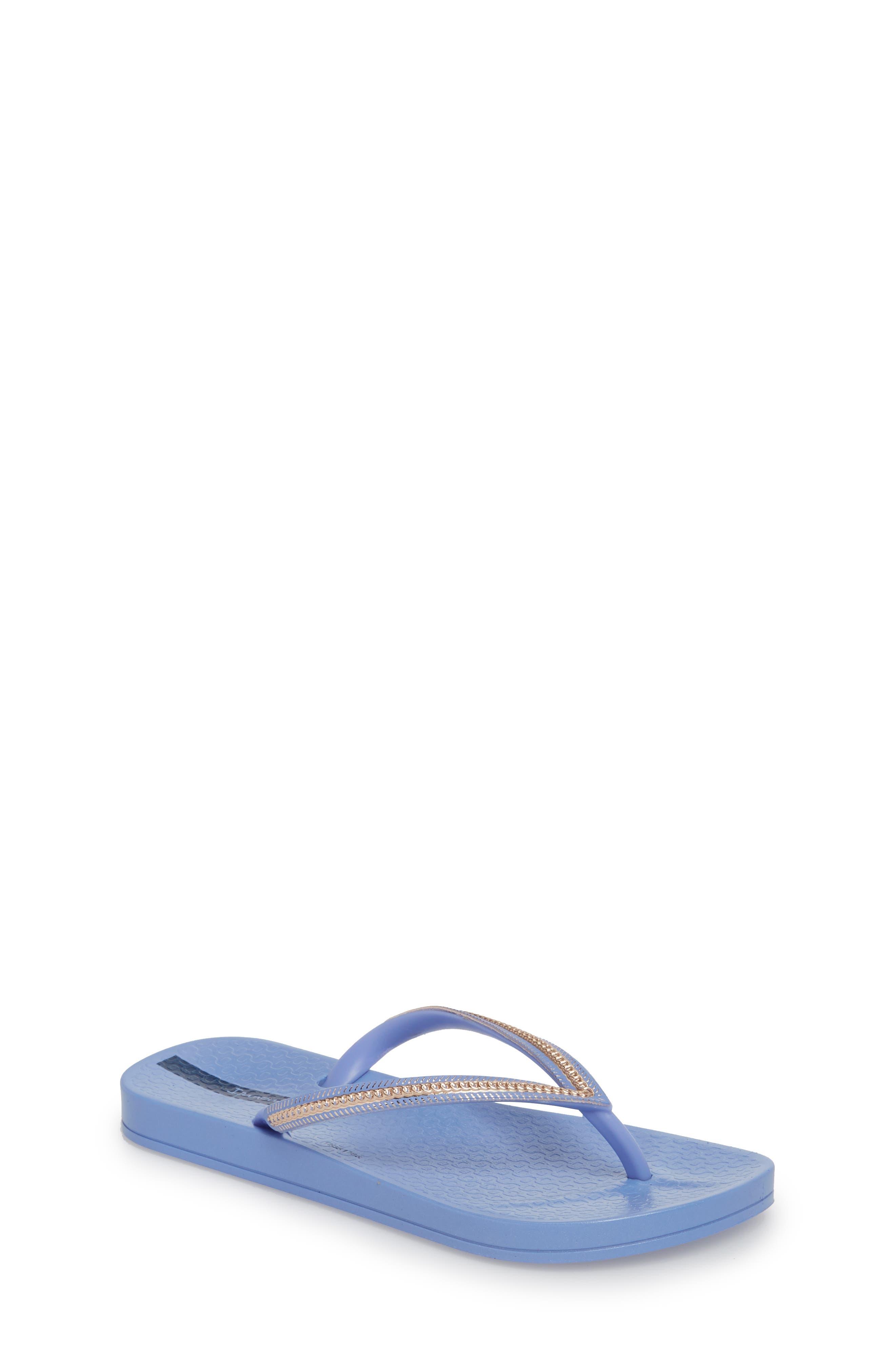 Ana Metallic Flip Flop,                         Main,                         color, Blue/ Rose