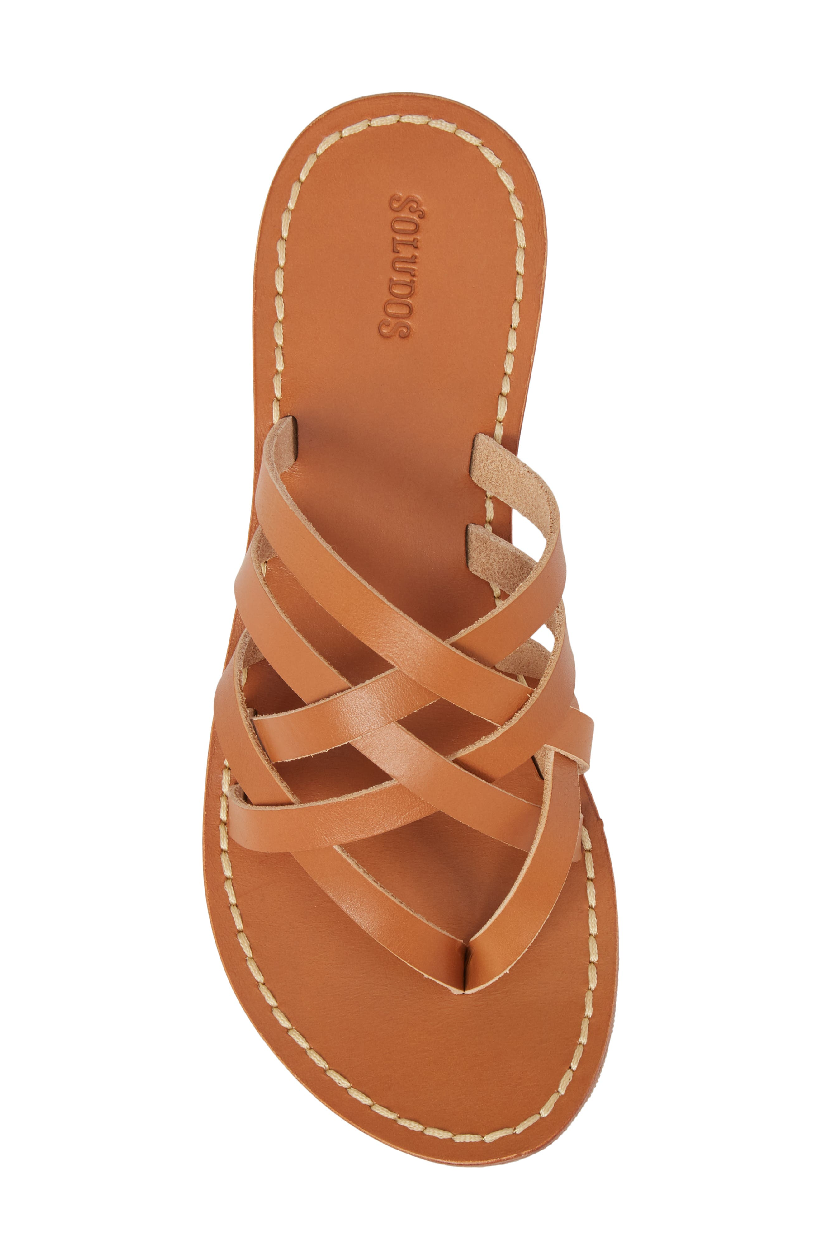 Strappy Sandal,                             Alternate thumbnail 5, color,                             Natural Leather