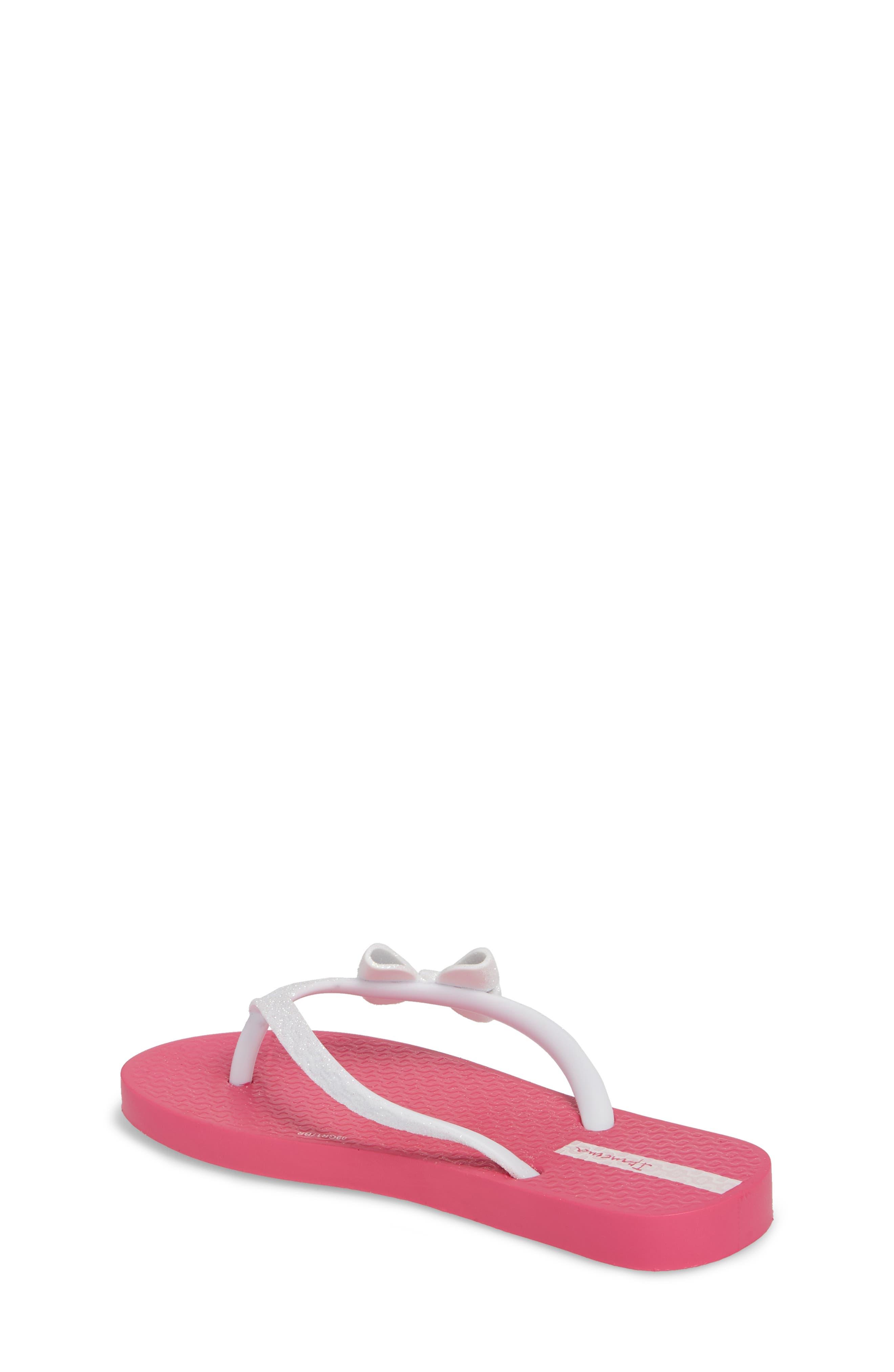 Glitter IV Flip Flop,                             Alternate thumbnail 2, color,                             Pink/ White