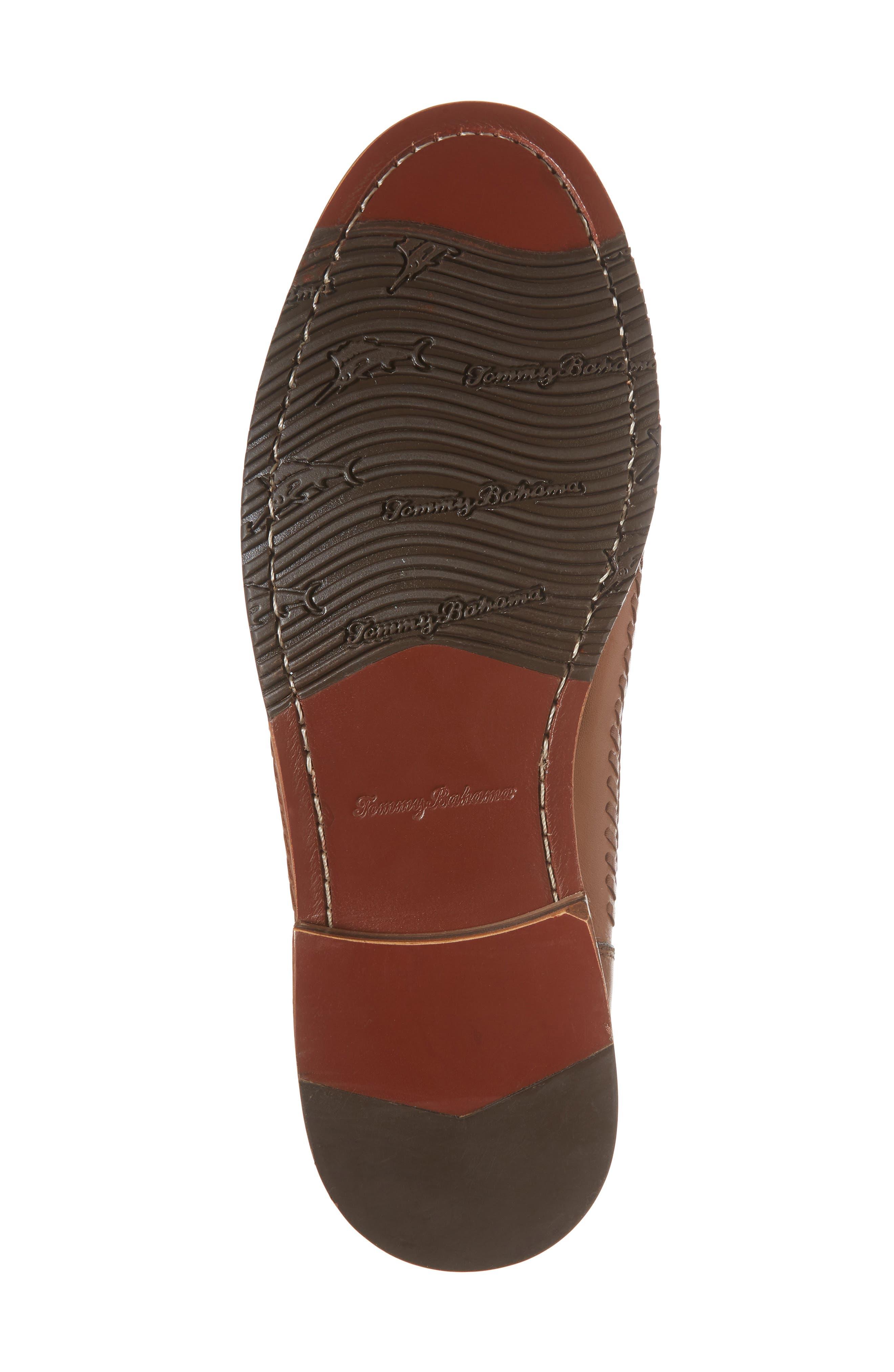 Hasslington Woven Venetian Loafer,                             Alternate thumbnail 6, color,                             Tan Leather
