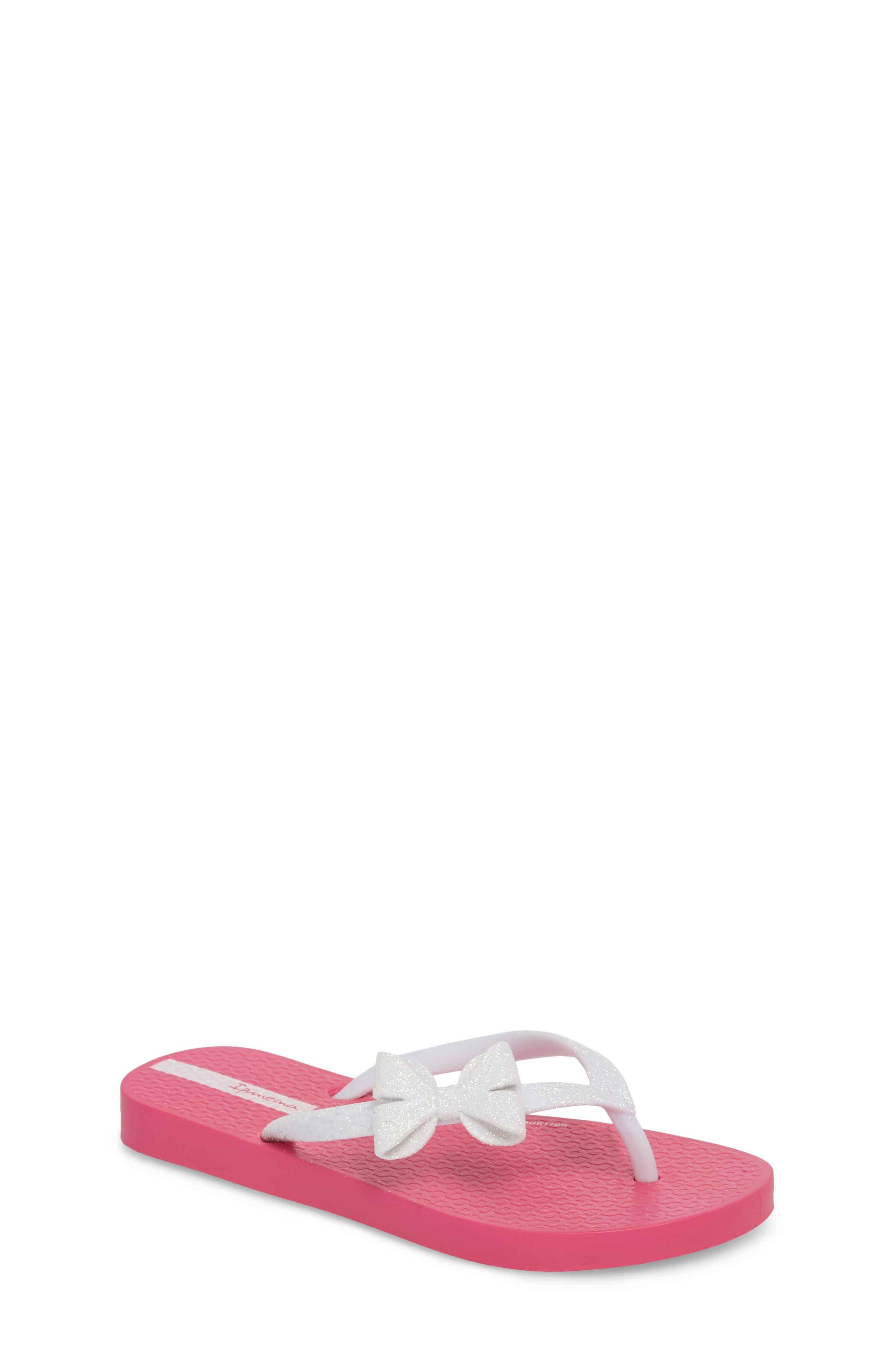 Glitter IV Flip Flop,                             Main thumbnail 1, color,                             Pink/ White