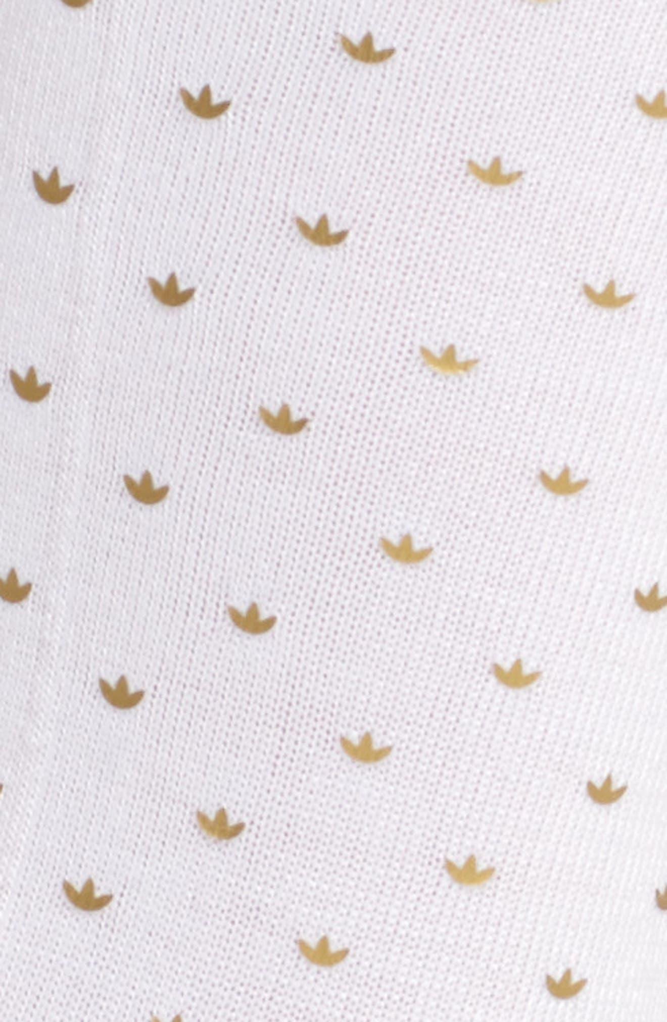 Mini Trefoil Crew Socks,                             Alternate thumbnail 2, color,                             White/ Gold