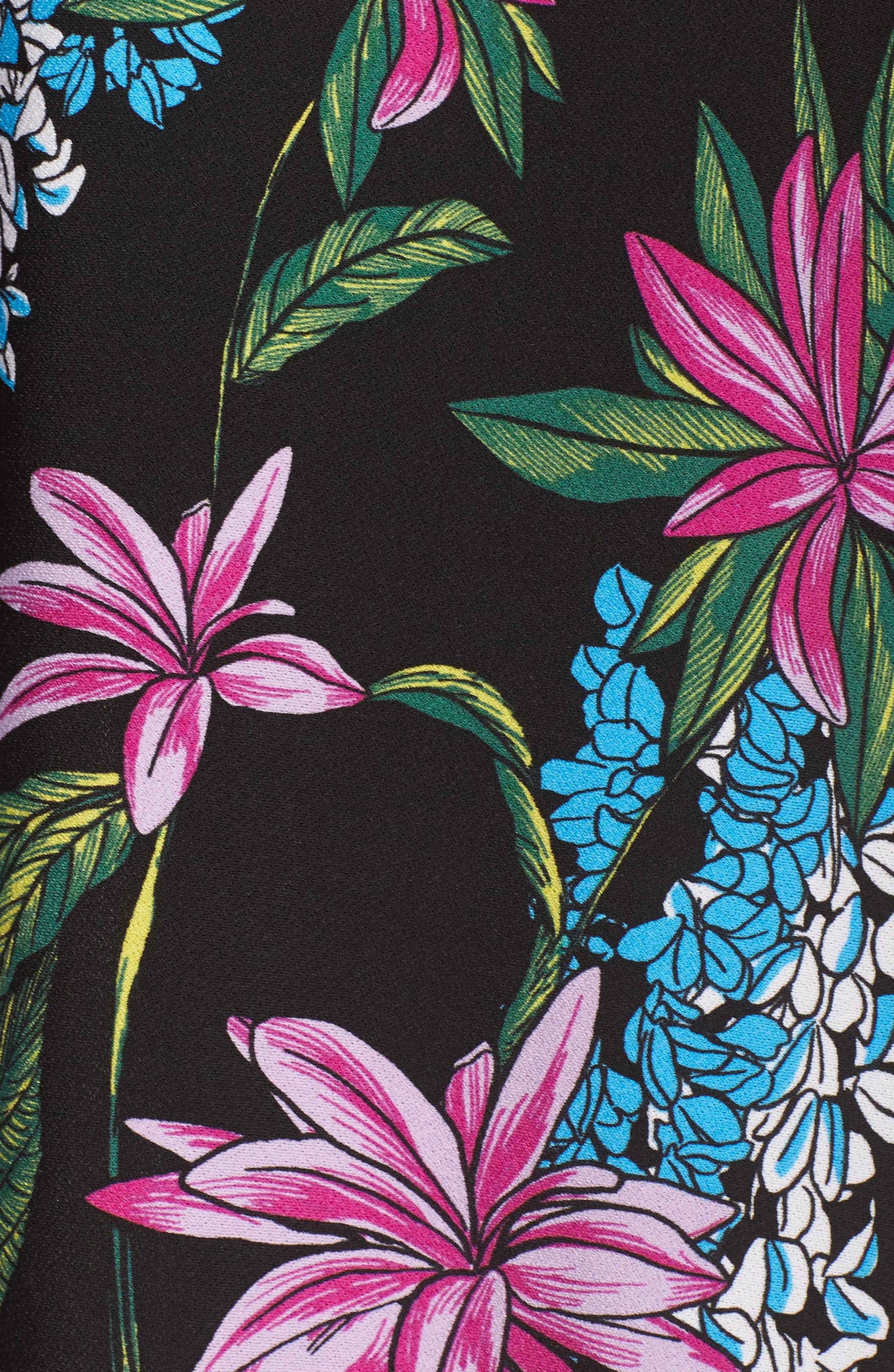 Print Jersey Faux Wrap Dress,                             Alternate thumbnail 6, color,                             Terrarium