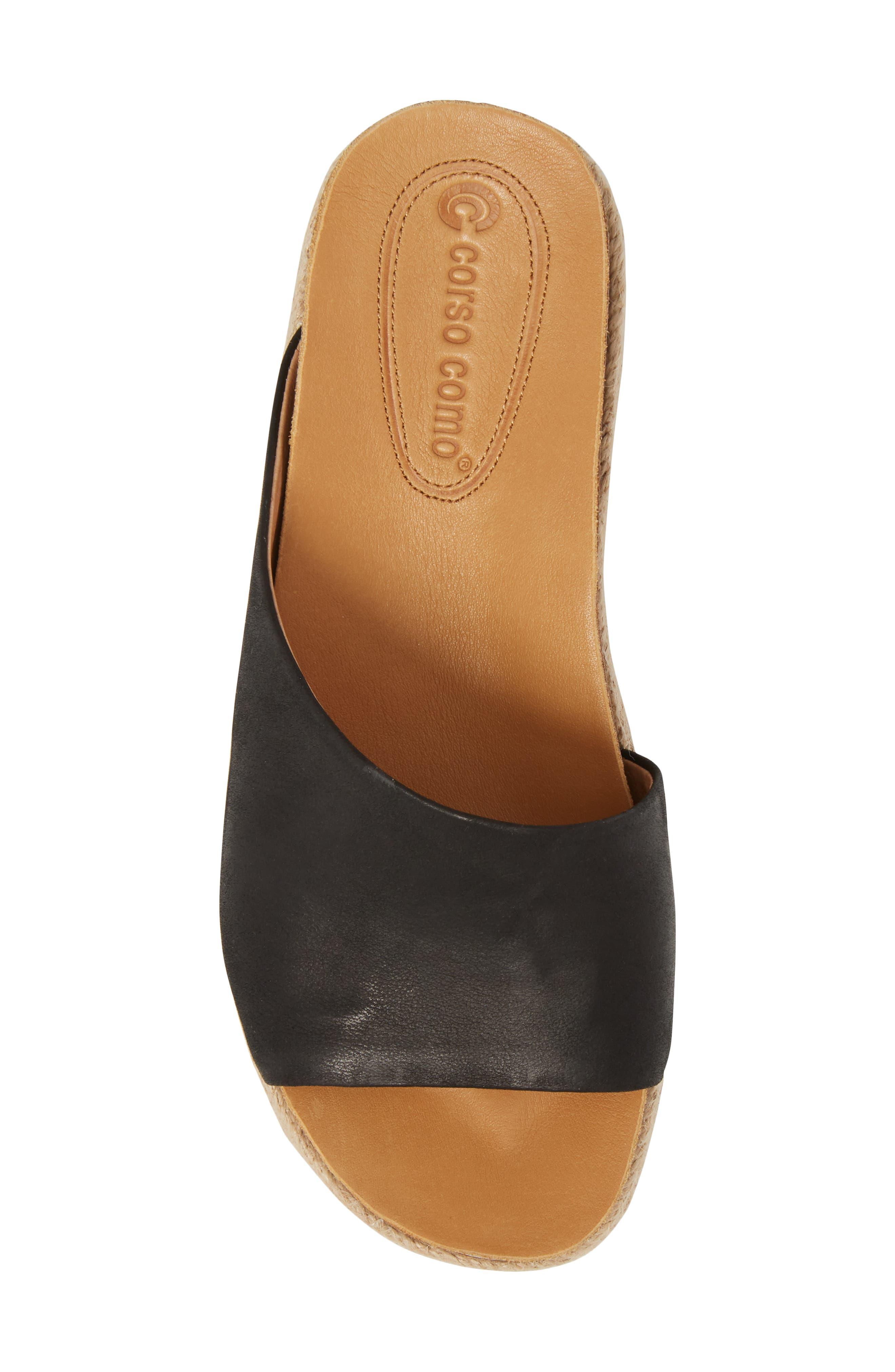 Candice Sandal,                             Alternate thumbnail 5, color,                             Black Leather