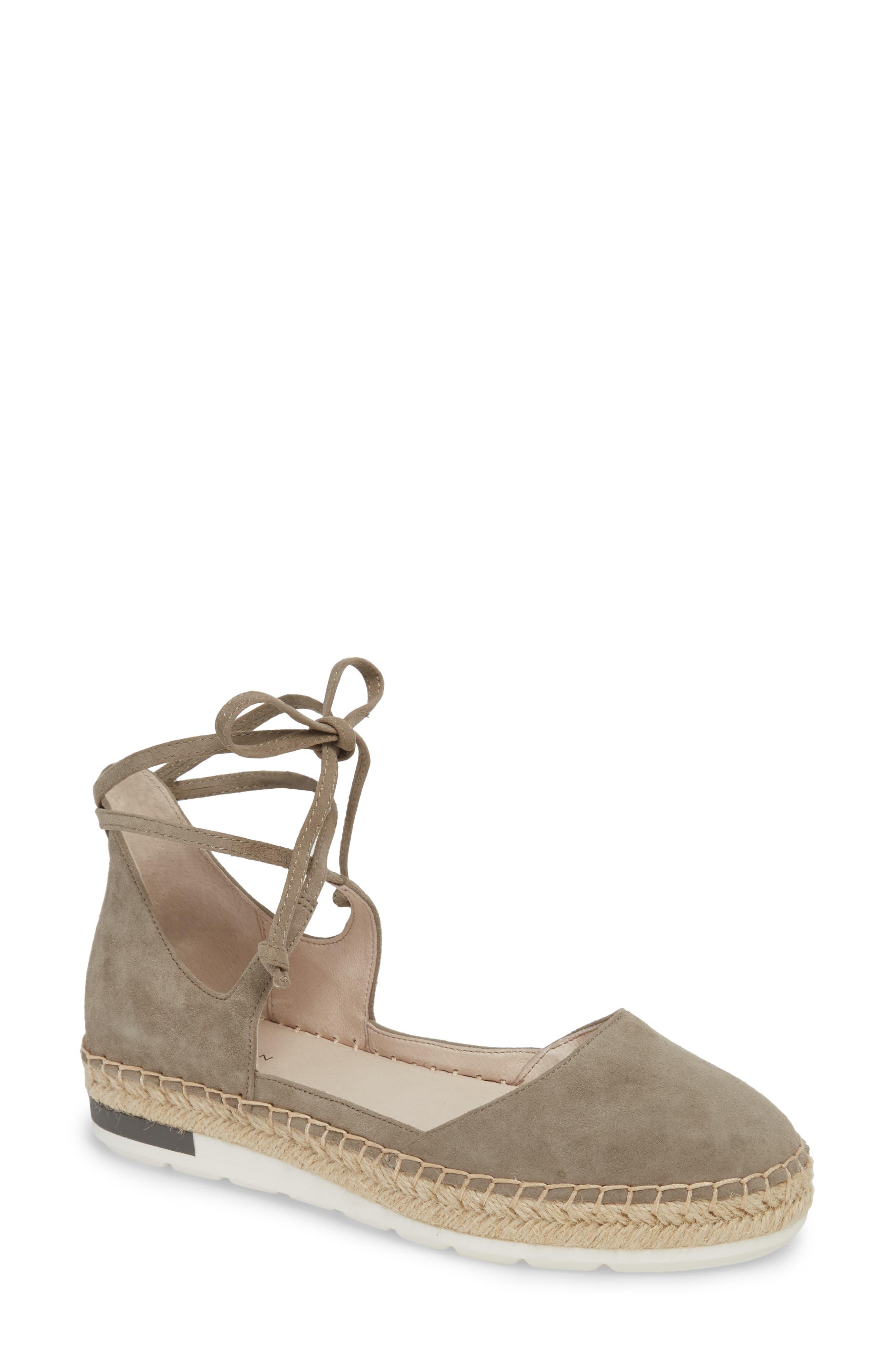 Leena Ankle Strap Sandal,                             Main thumbnail 1, color,                             Grey Suede