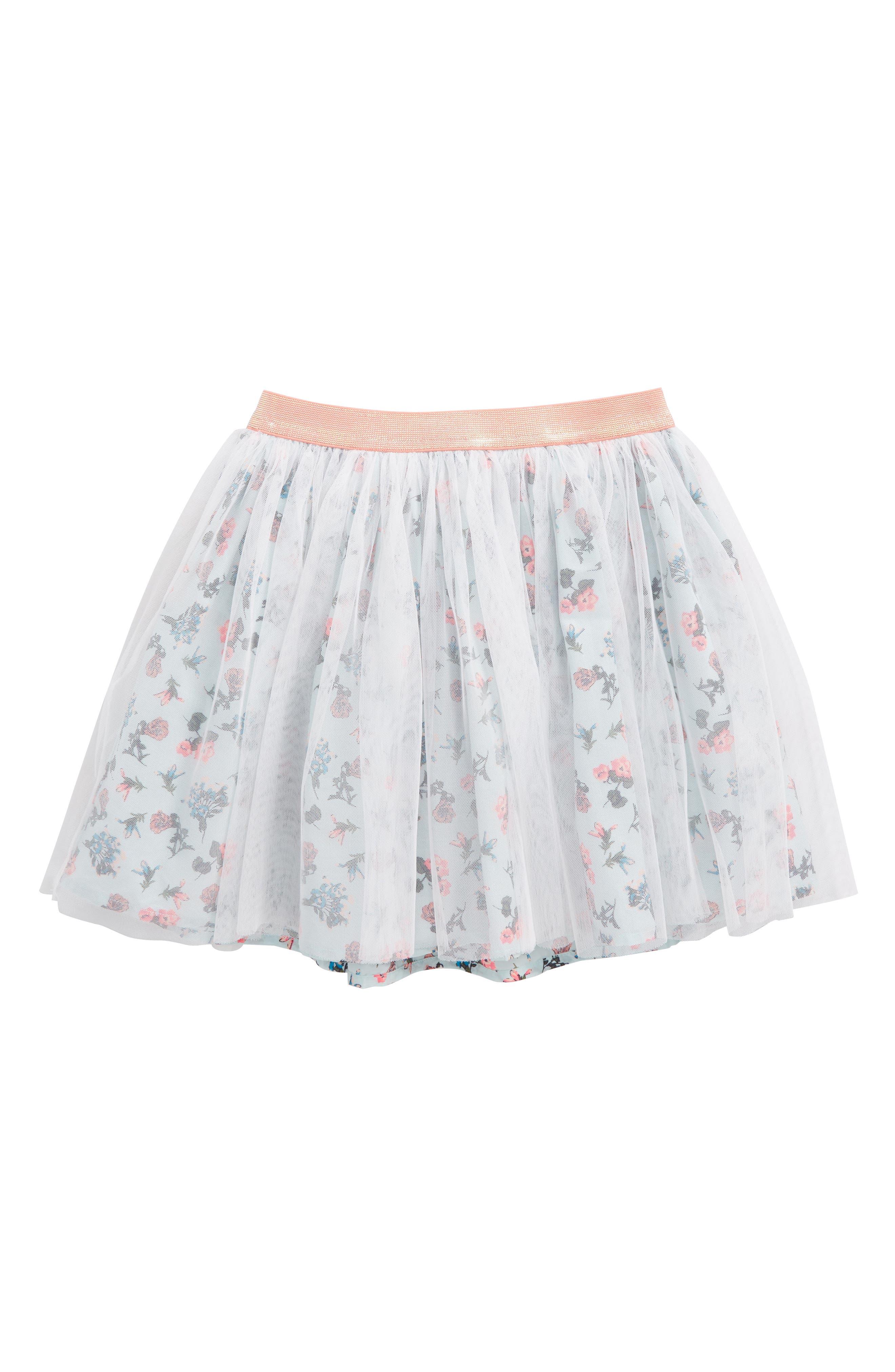 Main Image - Tucker + Tate Floral Tulle Skirt (Toddler Girls, Little Girls & Big Girls)