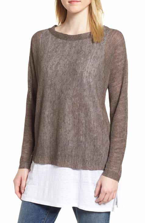 Eileen Fisher Linen Blend Sweater