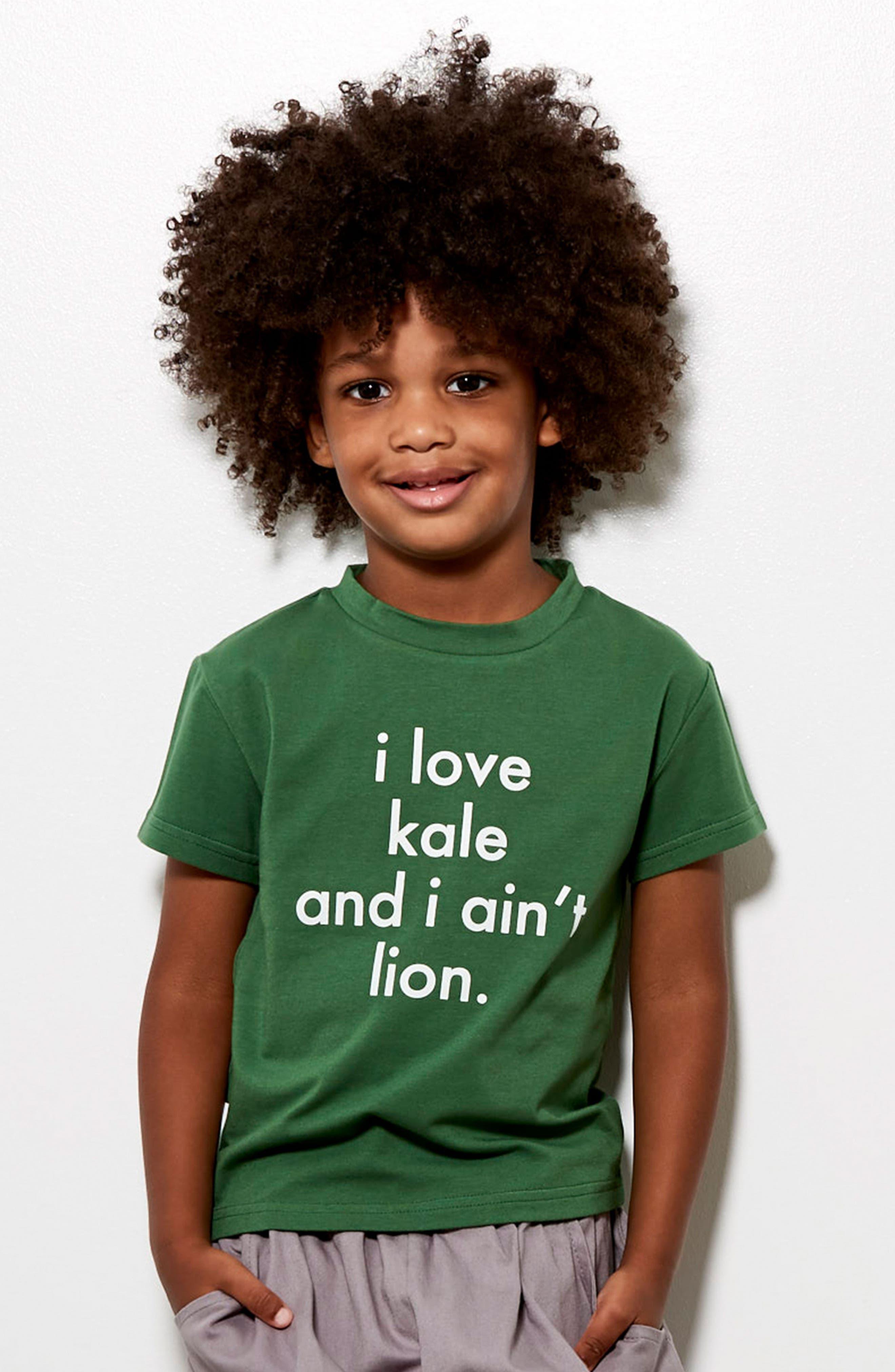I Love Kale Graphic T-Shirt,                             Alternate thumbnail 3, color,
