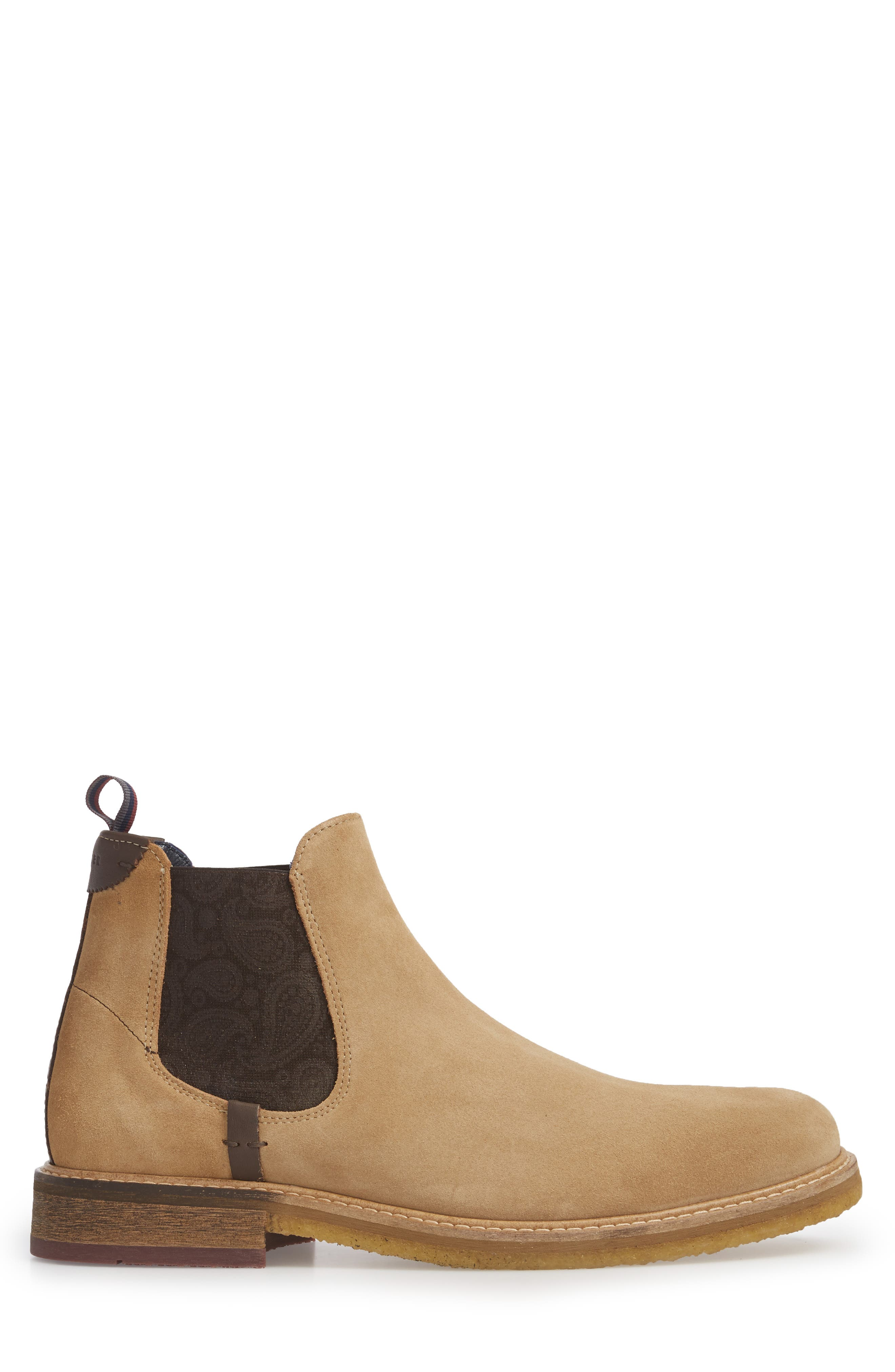 Bronzo Chelsea Boot,                             Alternate thumbnail 3, color,                             Sand Suede