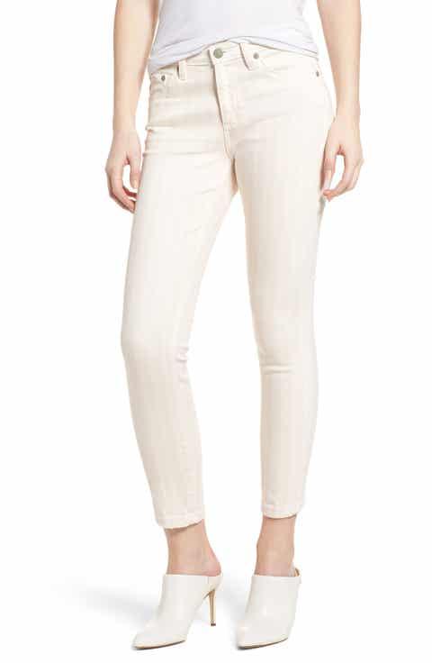 AG Prima Crop Skinny Jeans (1 Year Coastal Stripe Prism Pink)