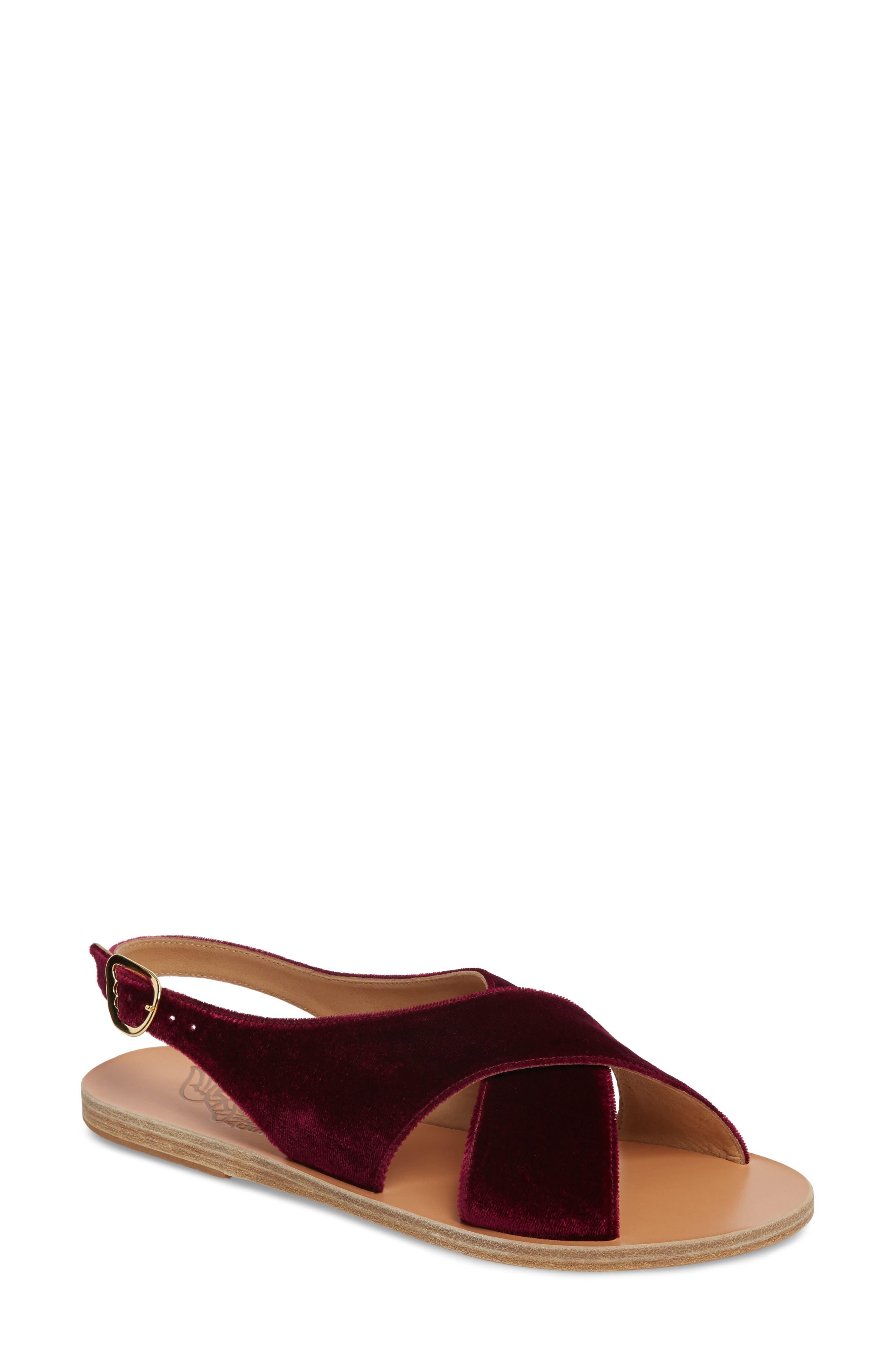 Maria Sandal,                             Main thumbnail 1, color,                             Burgundy Velvet
