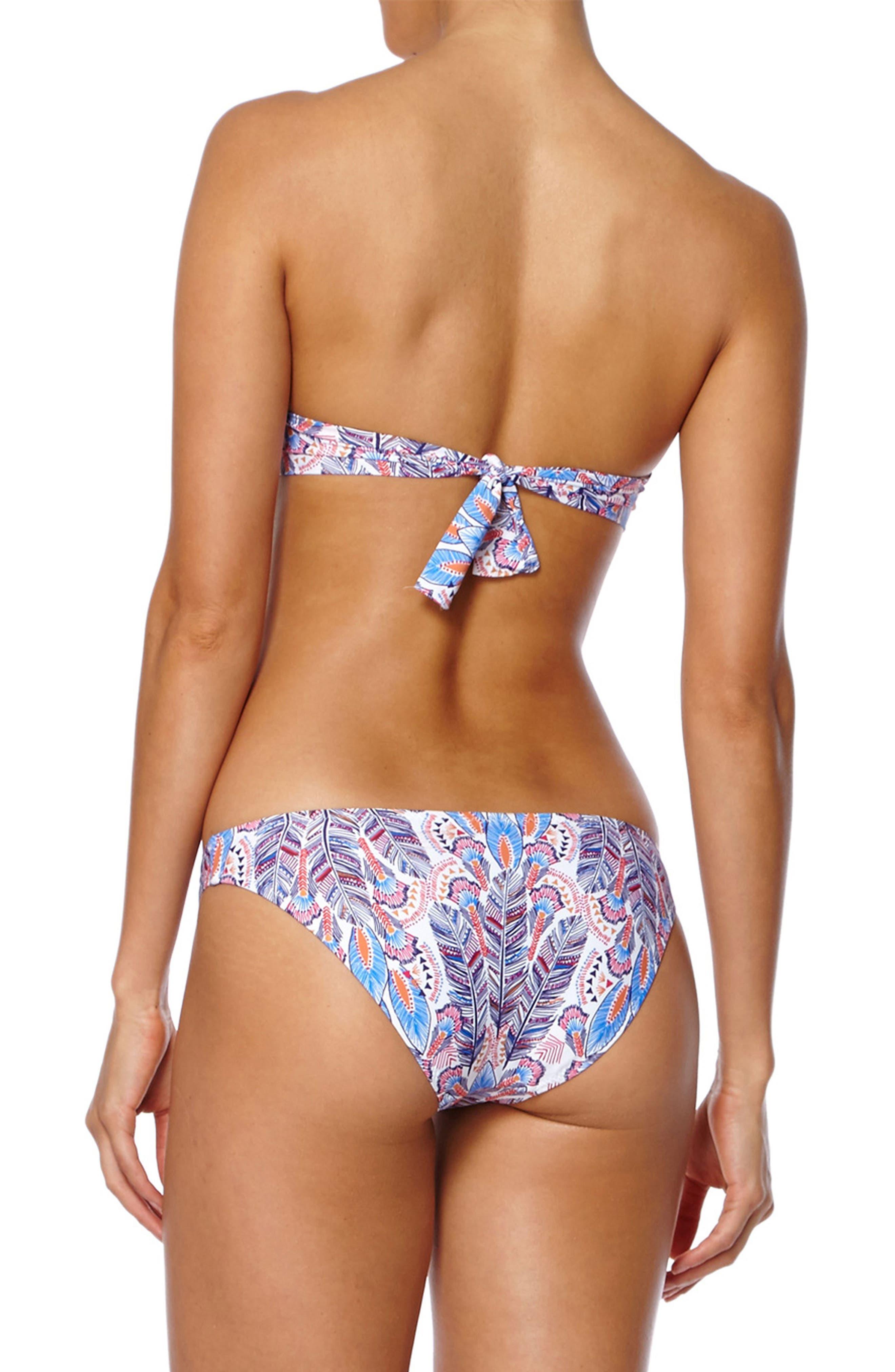 Martinique Bandeau Bikini Top,                             Alternate thumbnail 4, color,                             Feathers