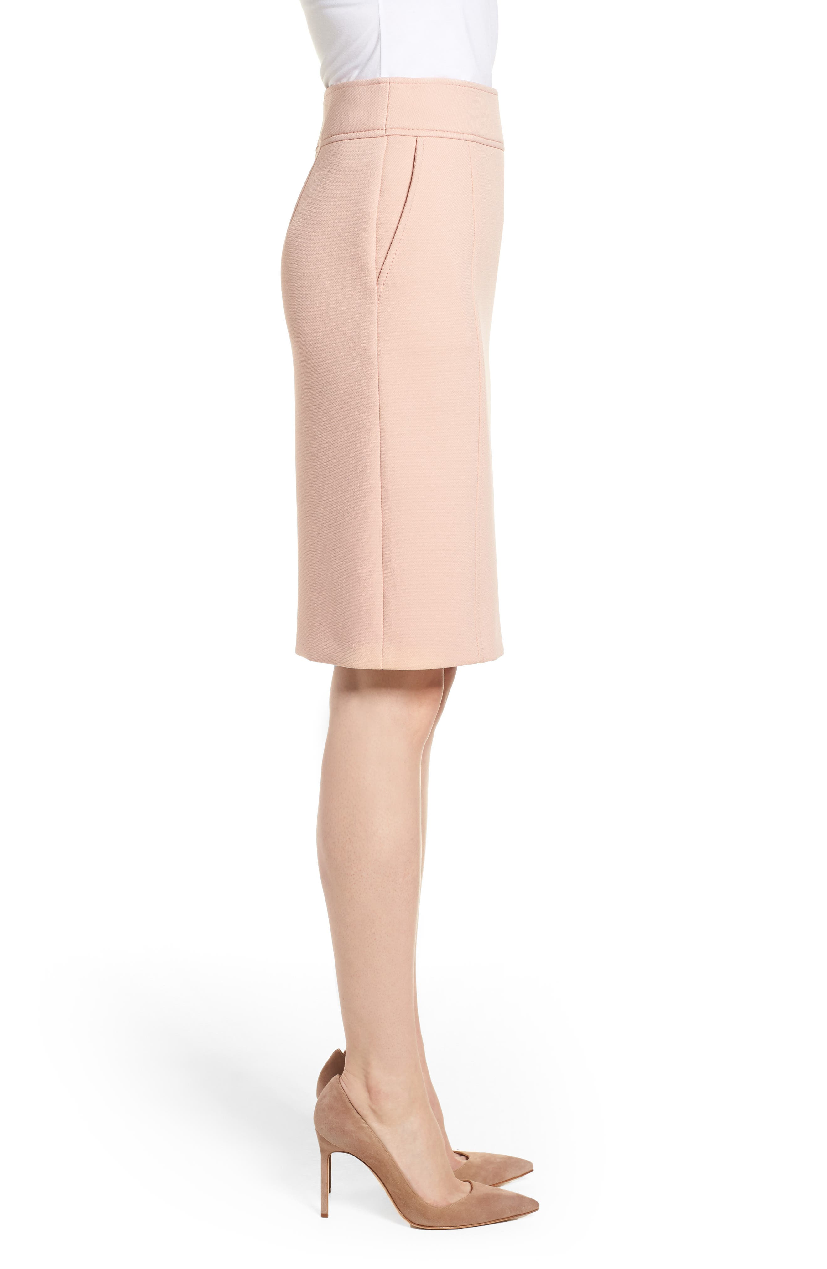 Vuleama Compact Twill Pencil Skirt,                             Alternate thumbnail 3, color,                             Blush