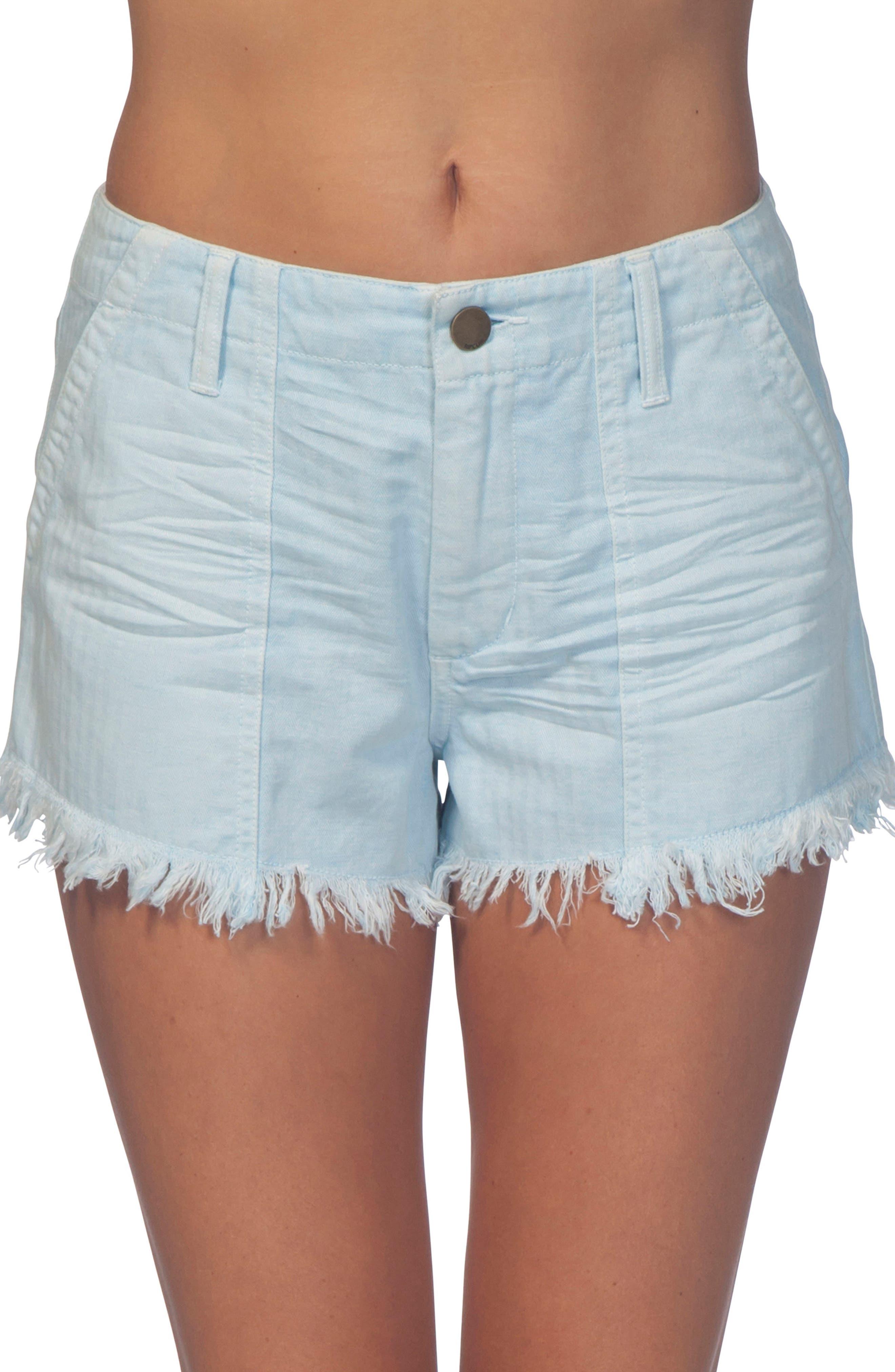 Vista Cutoff Denim Shorts,                             Main thumbnail 1, color,                             Light Blue