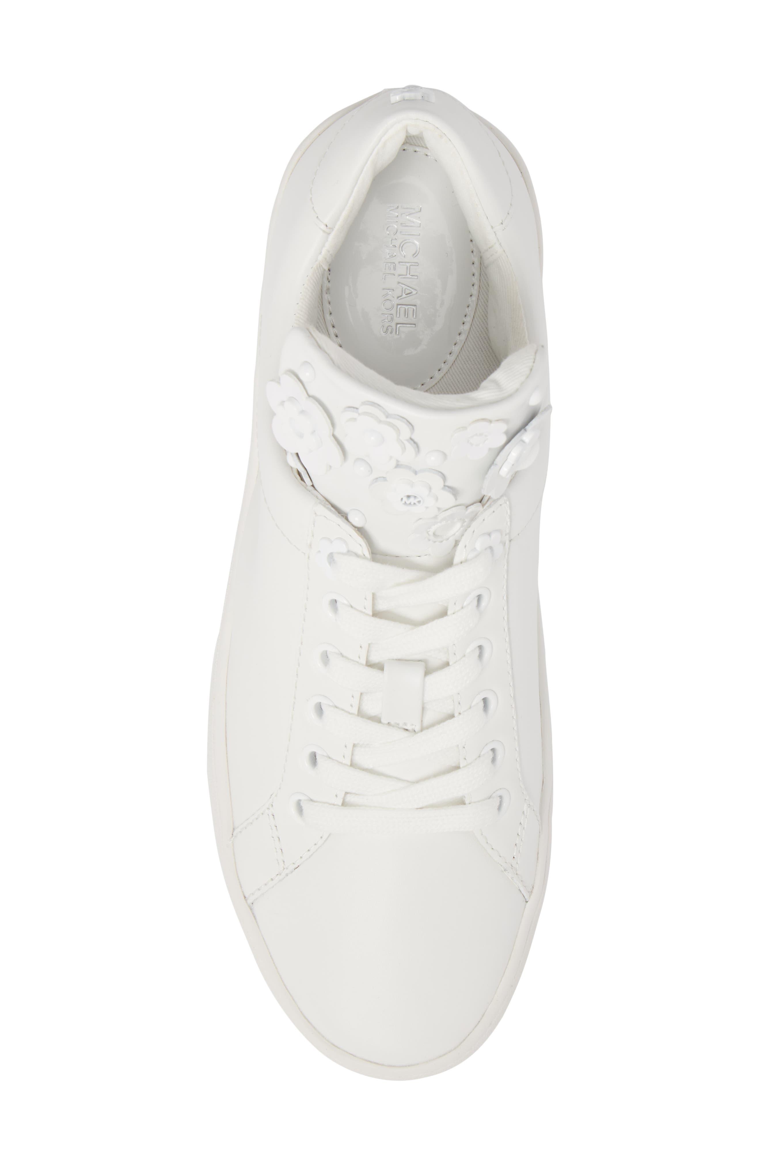 Mindy Platform Sneaker,                             Alternate thumbnail 5, color,                             Optic White
