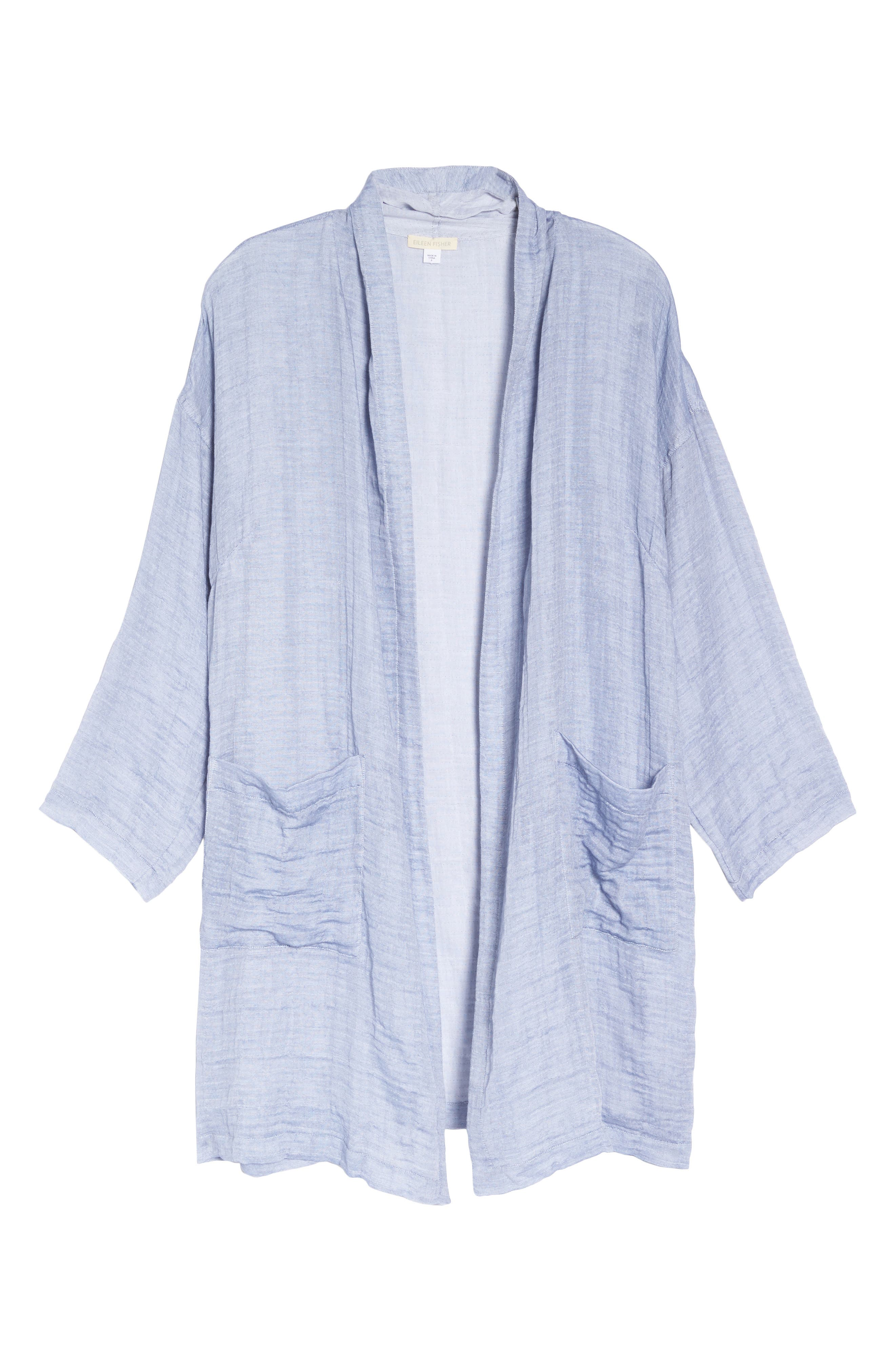 Kimono Jacket,                             Alternate thumbnail 7, color,                             Chambray